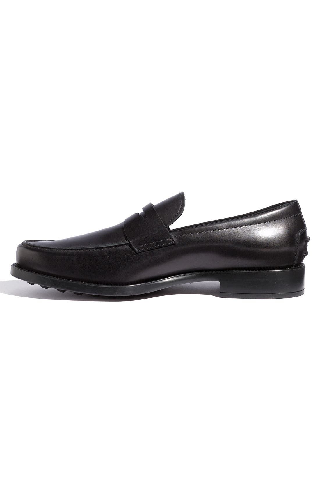 'Boston' Penny Loafer,                             Alternate thumbnail 8, color,                             001
