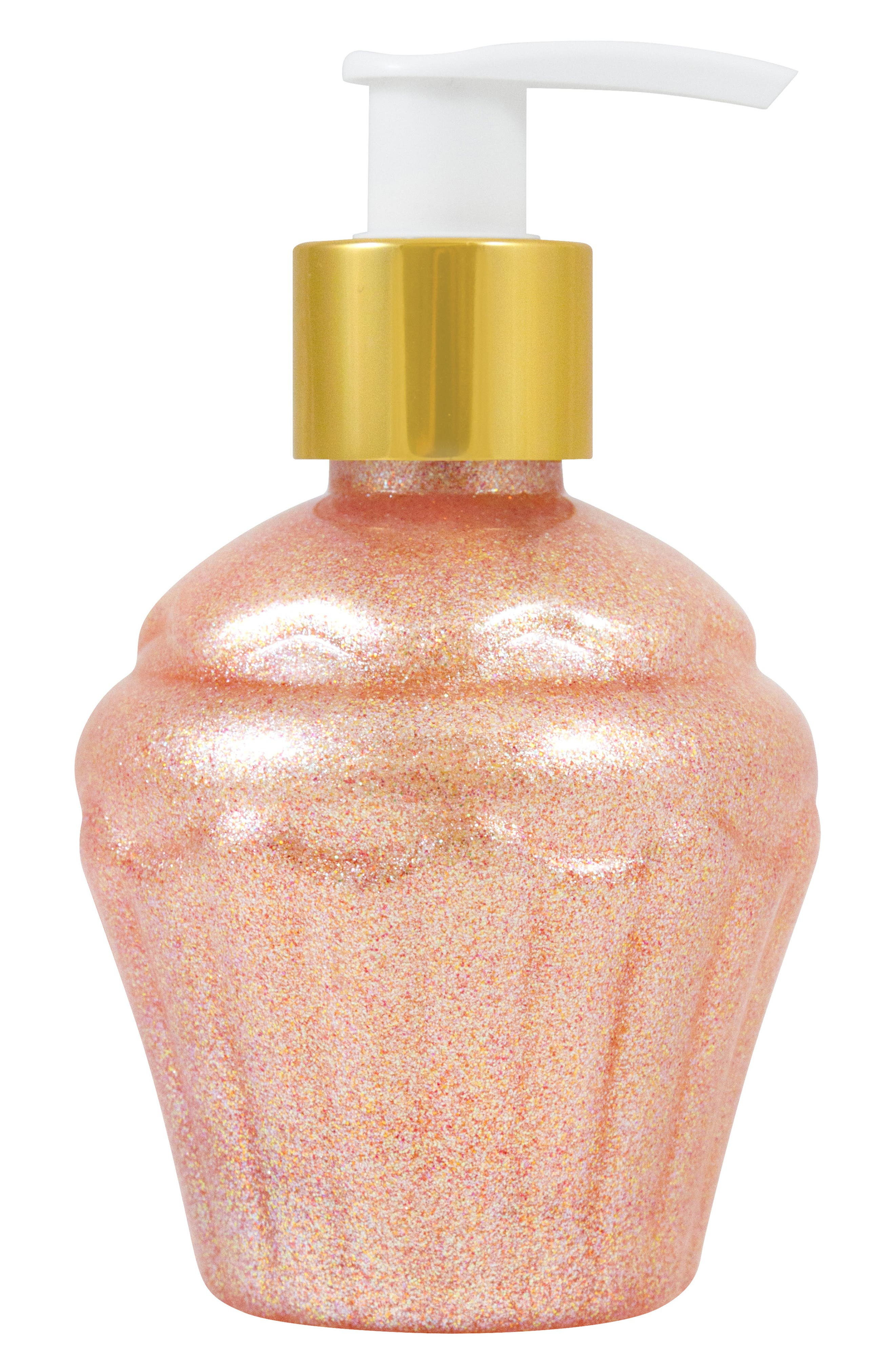 Birthday Every Day Party Cake Scented Body Gel,                             Main thumbnail 1, color,                             PINK GLITTER