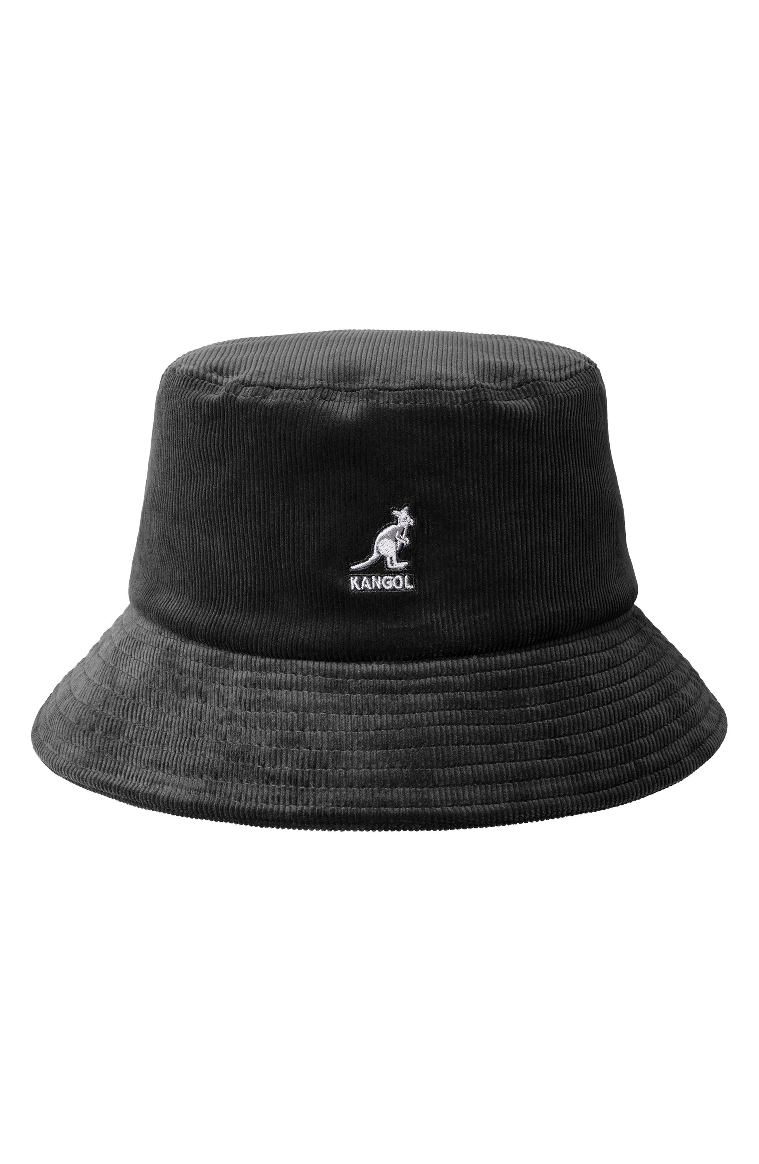 KANGOL Corduroy Bucket Hat - Black