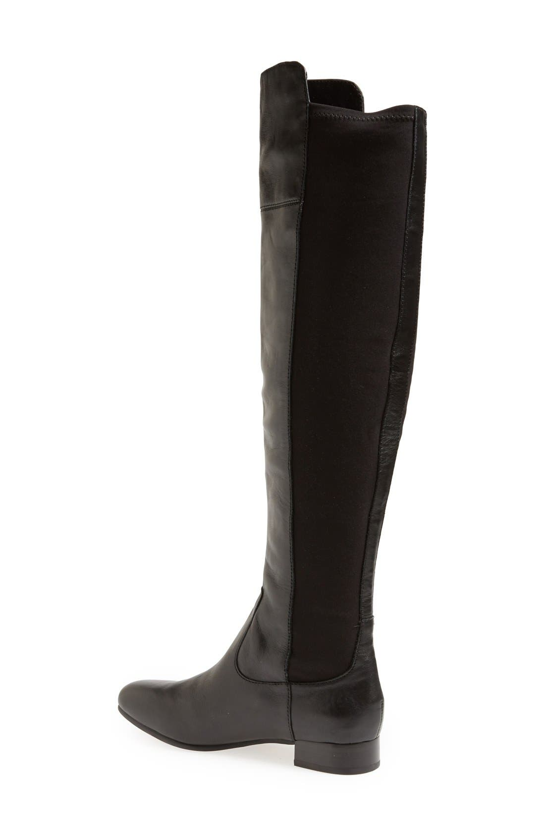 LOUISE ET CIE,                             'Andora' Over the Knee Boot,                             Alternate thumbnail 4, color,                             002