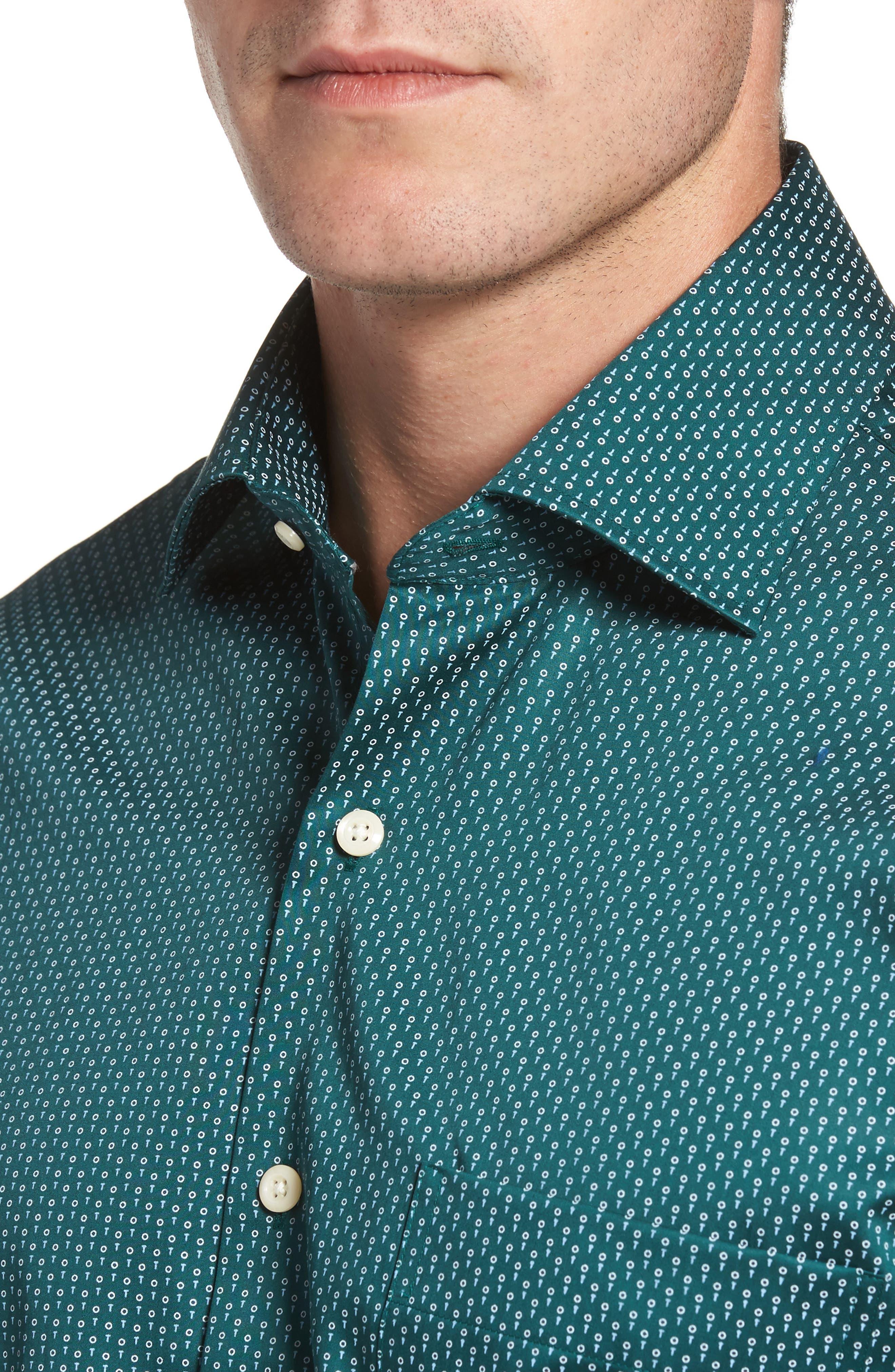 Golf Tee Print Sport Shirt,                             Alternate thumbnail 4, color,