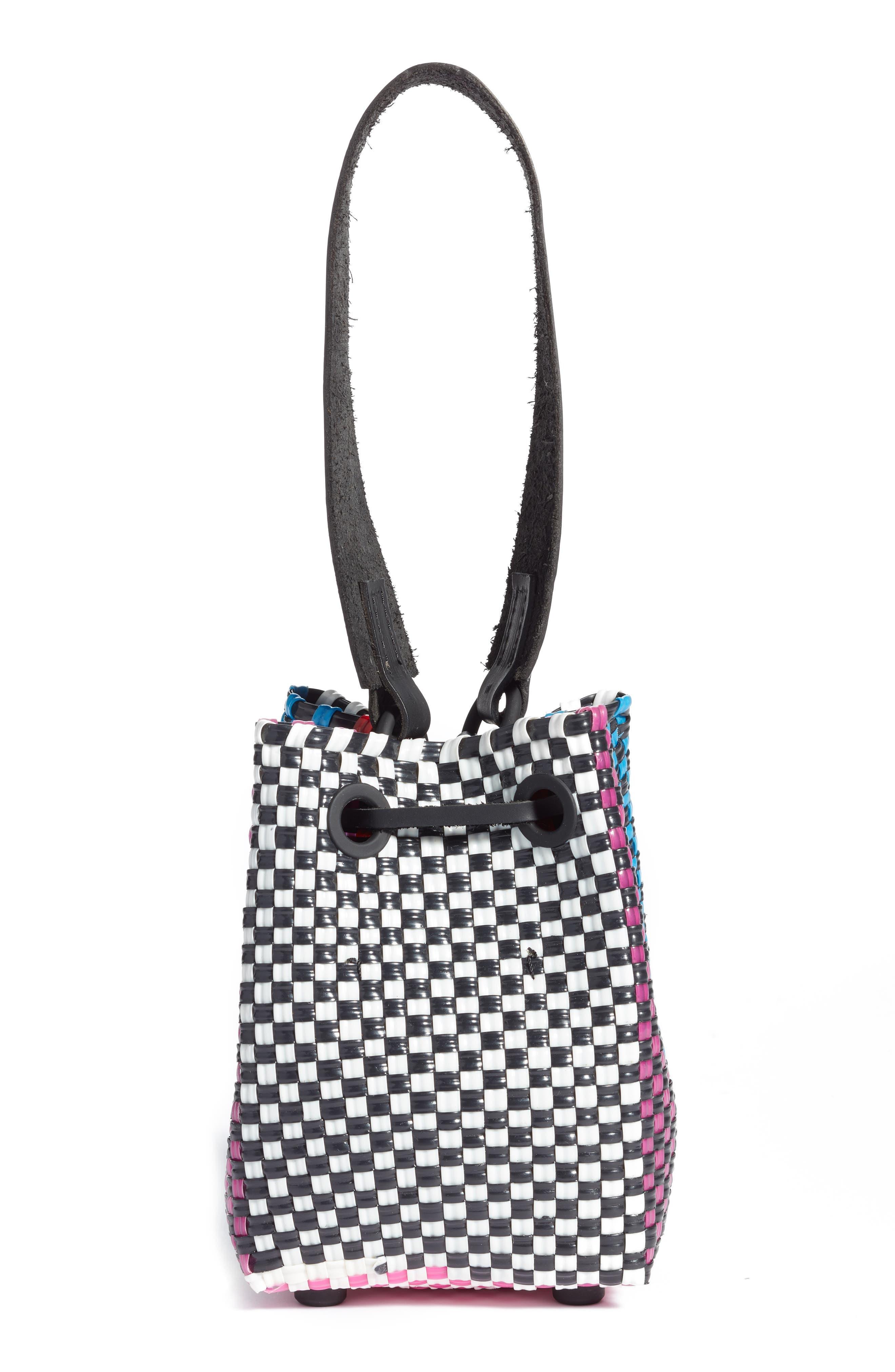 Party Woven Bucket Bag,                             Alternate thumbnail 3, color,                             960