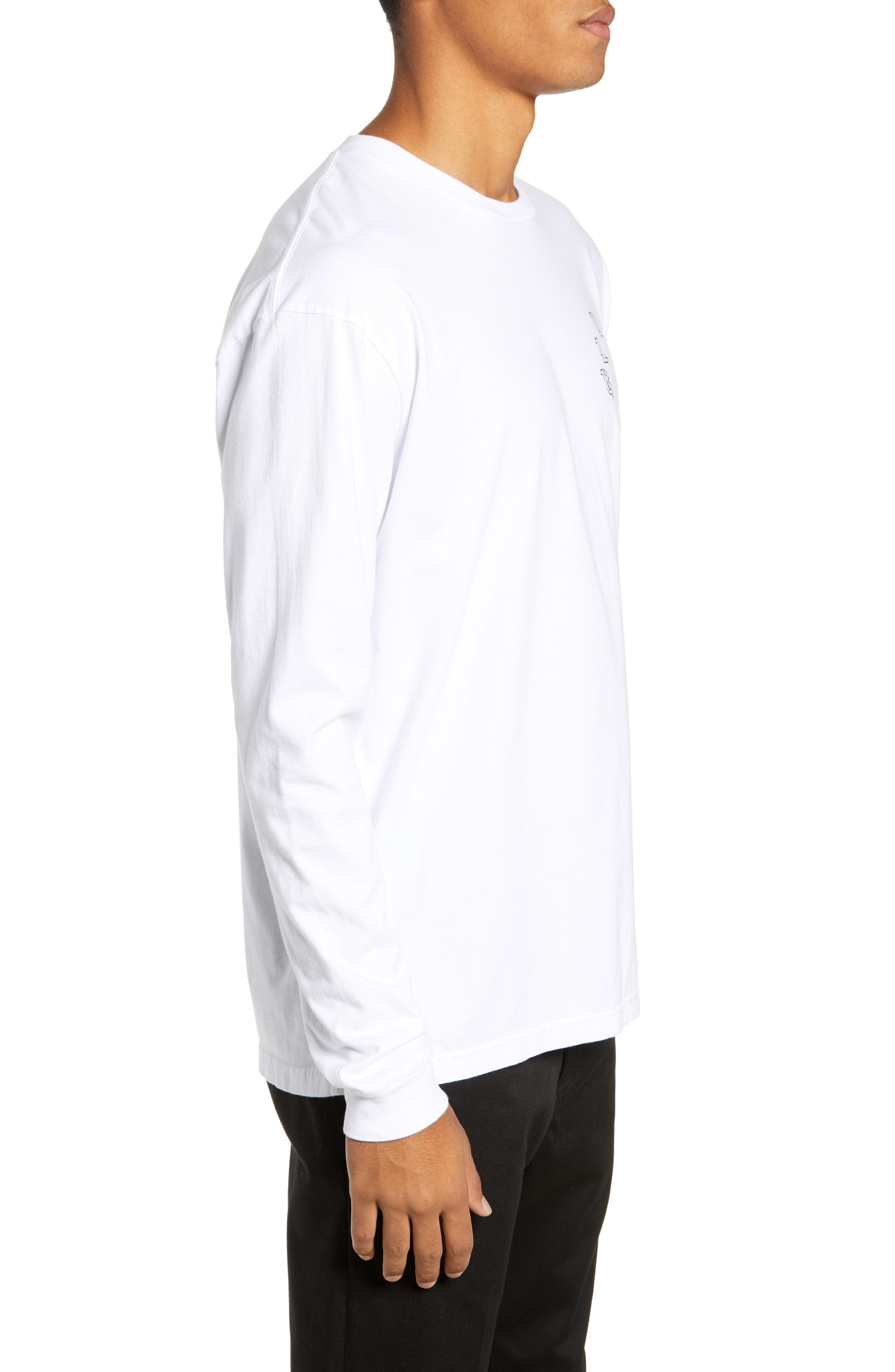 Prophet Long Sleeve T-Shirt,                             Alternate thumbnail 3, color,                             WHITE