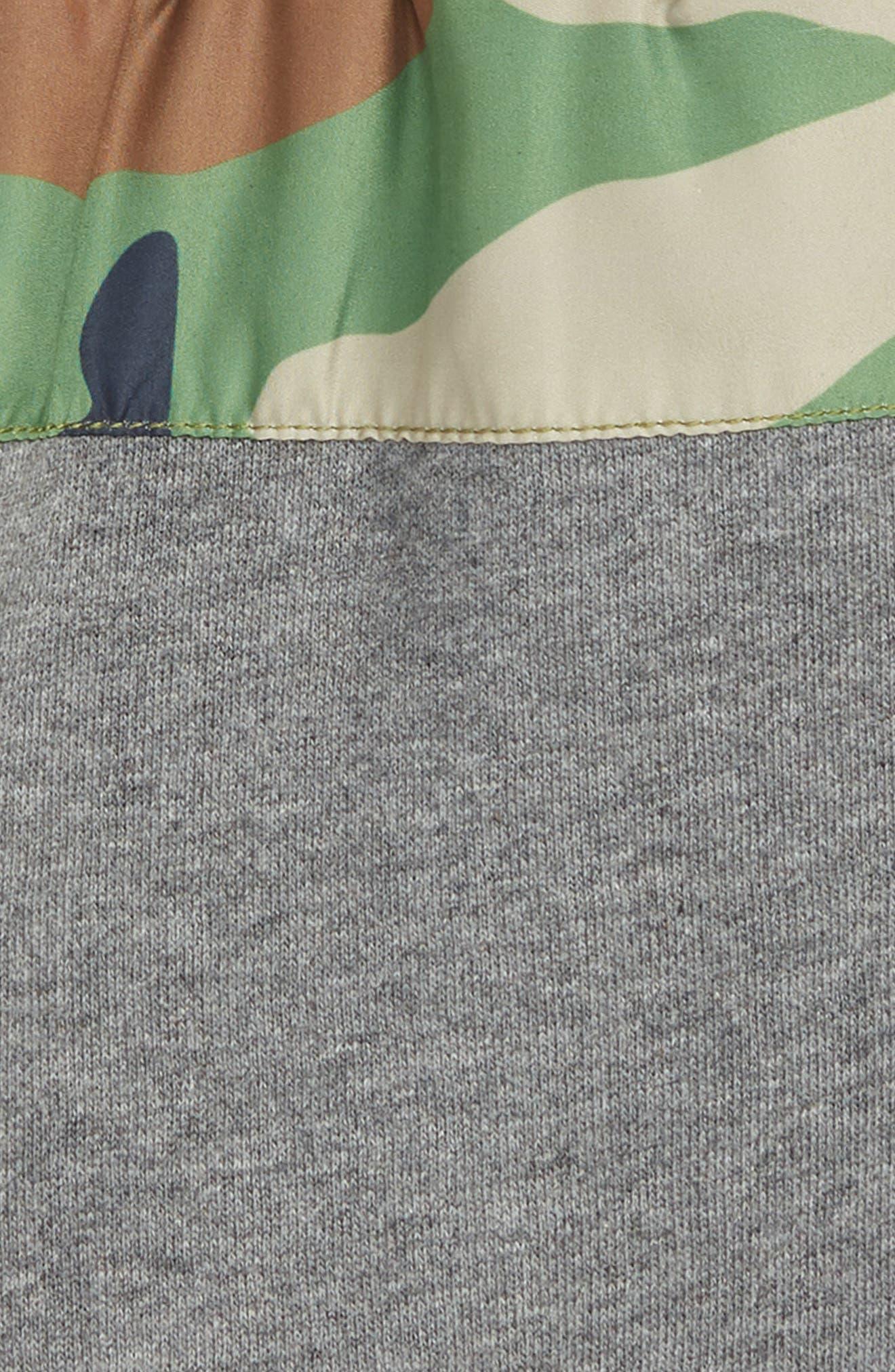 Ryder Camo Shorts,                             Alternate thumbnail 2, color,                             HEATHER GREY