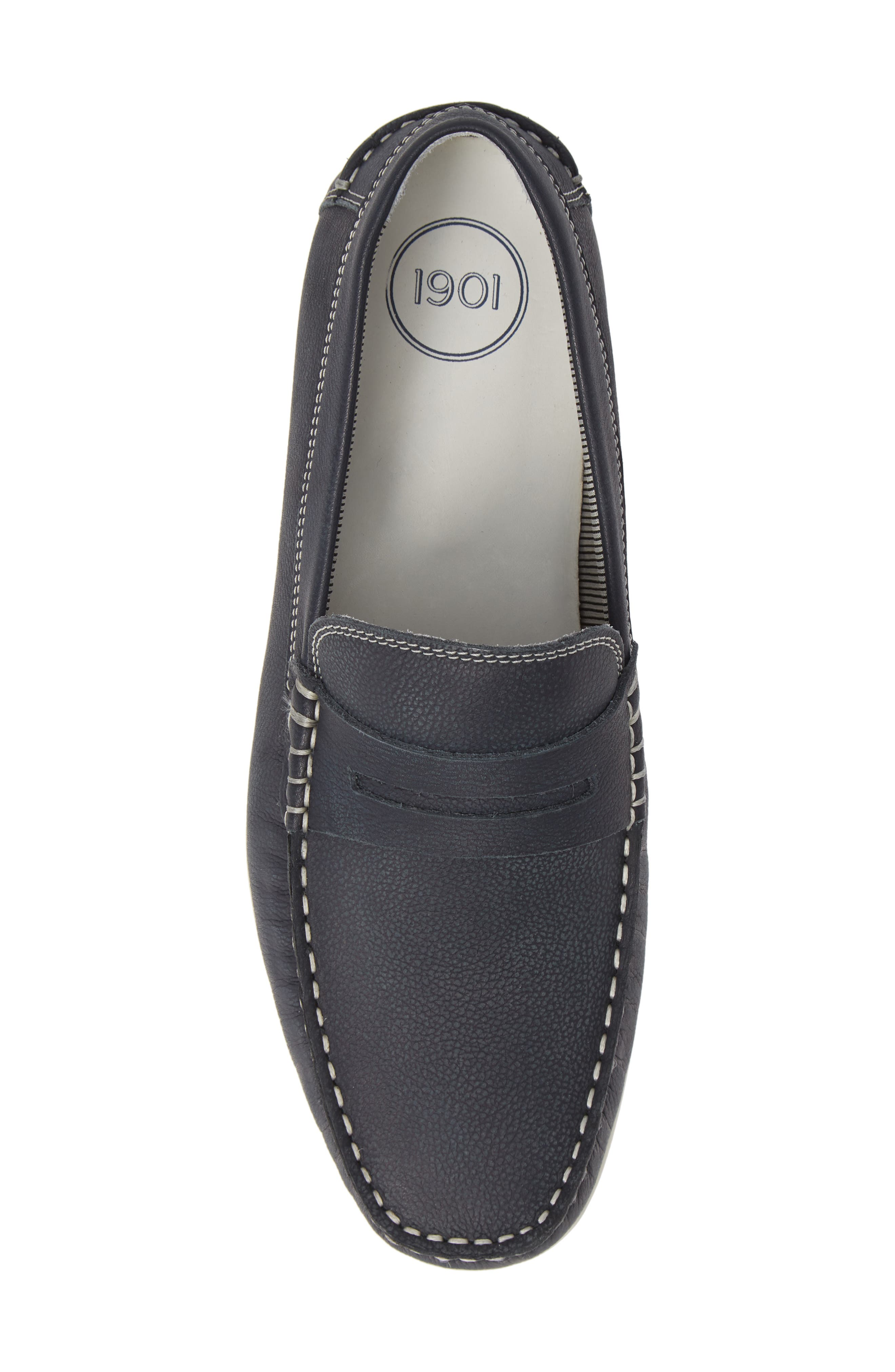 Napa Penny Loafer,                             Alternate thumbnail 5, color,                             NAVY LEATHER
