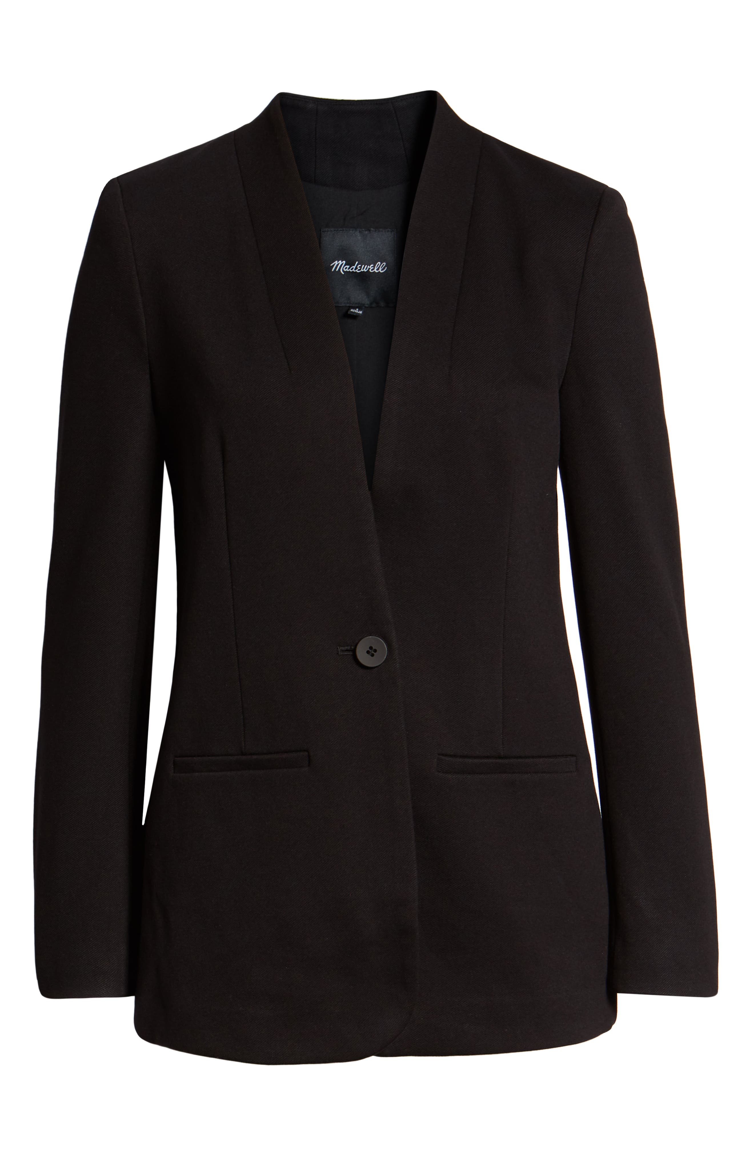 Tribune Blazer,                             Main thumbnail 1, color,                             TRUE BLACK