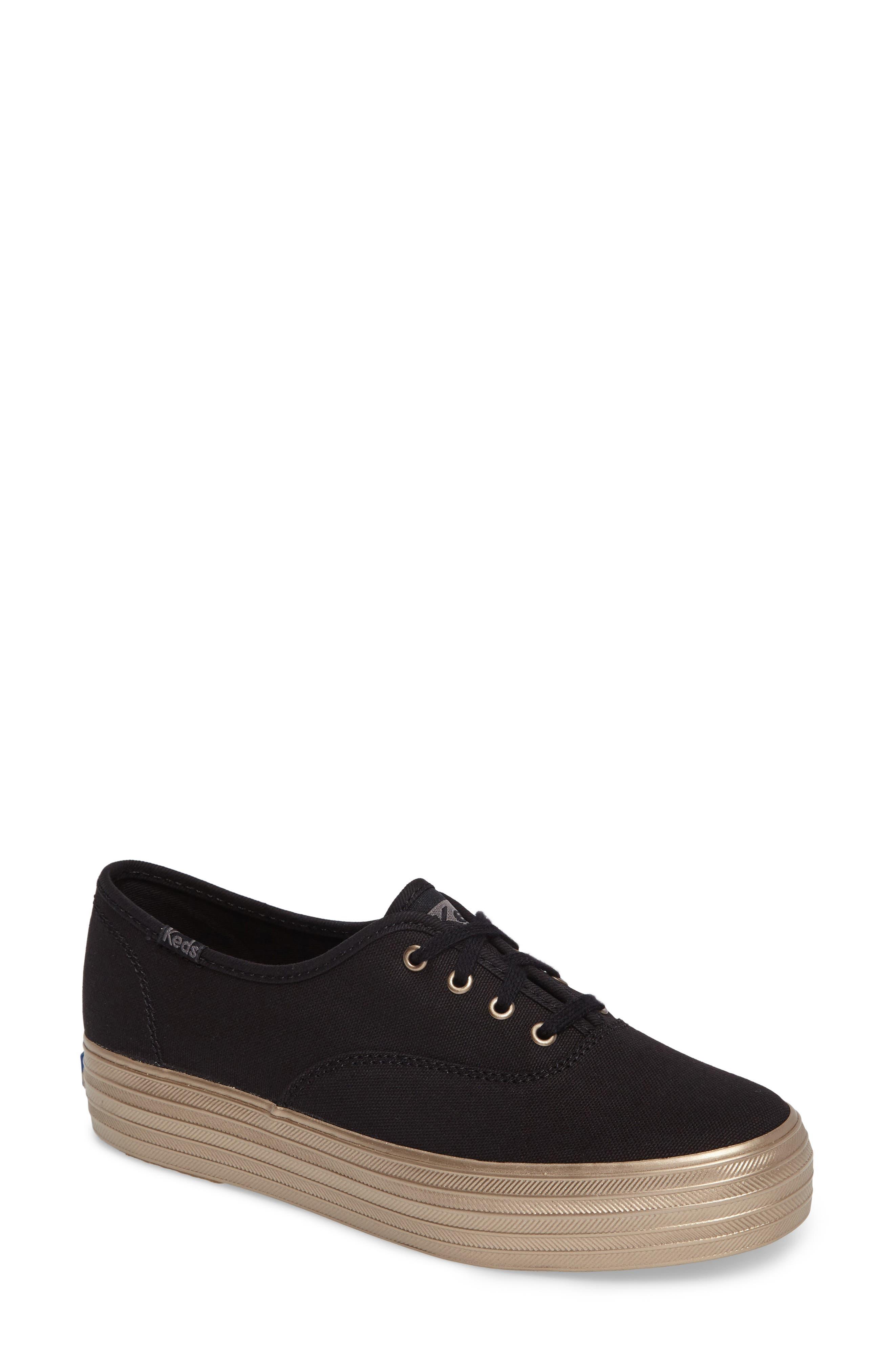 Triple Shimmer Platform Sneaker,                         Main,                         color, 002