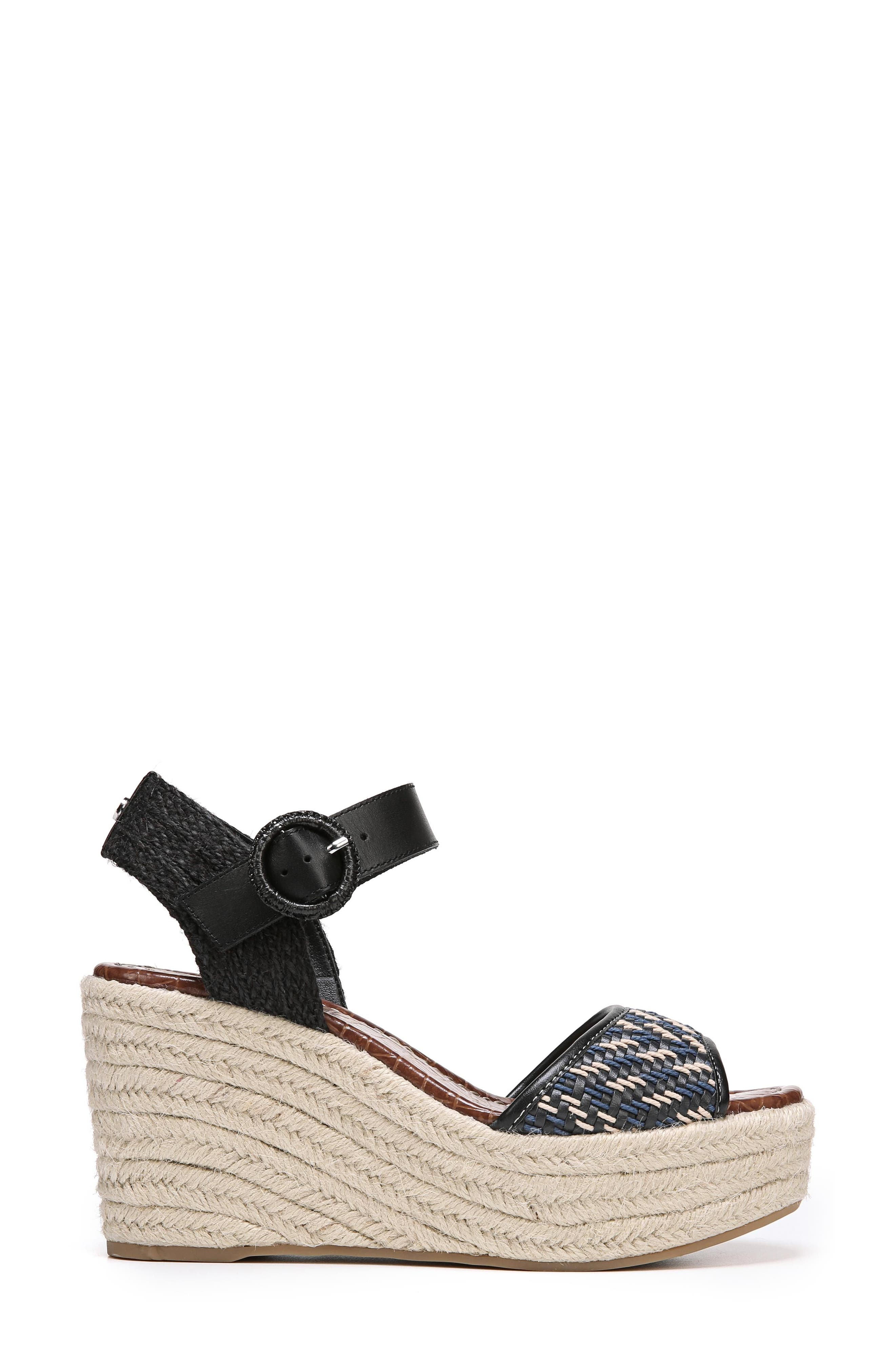 Dimitree Wedge,                             Alternate thumbnail 3, color,                             NAVY/ BLACK