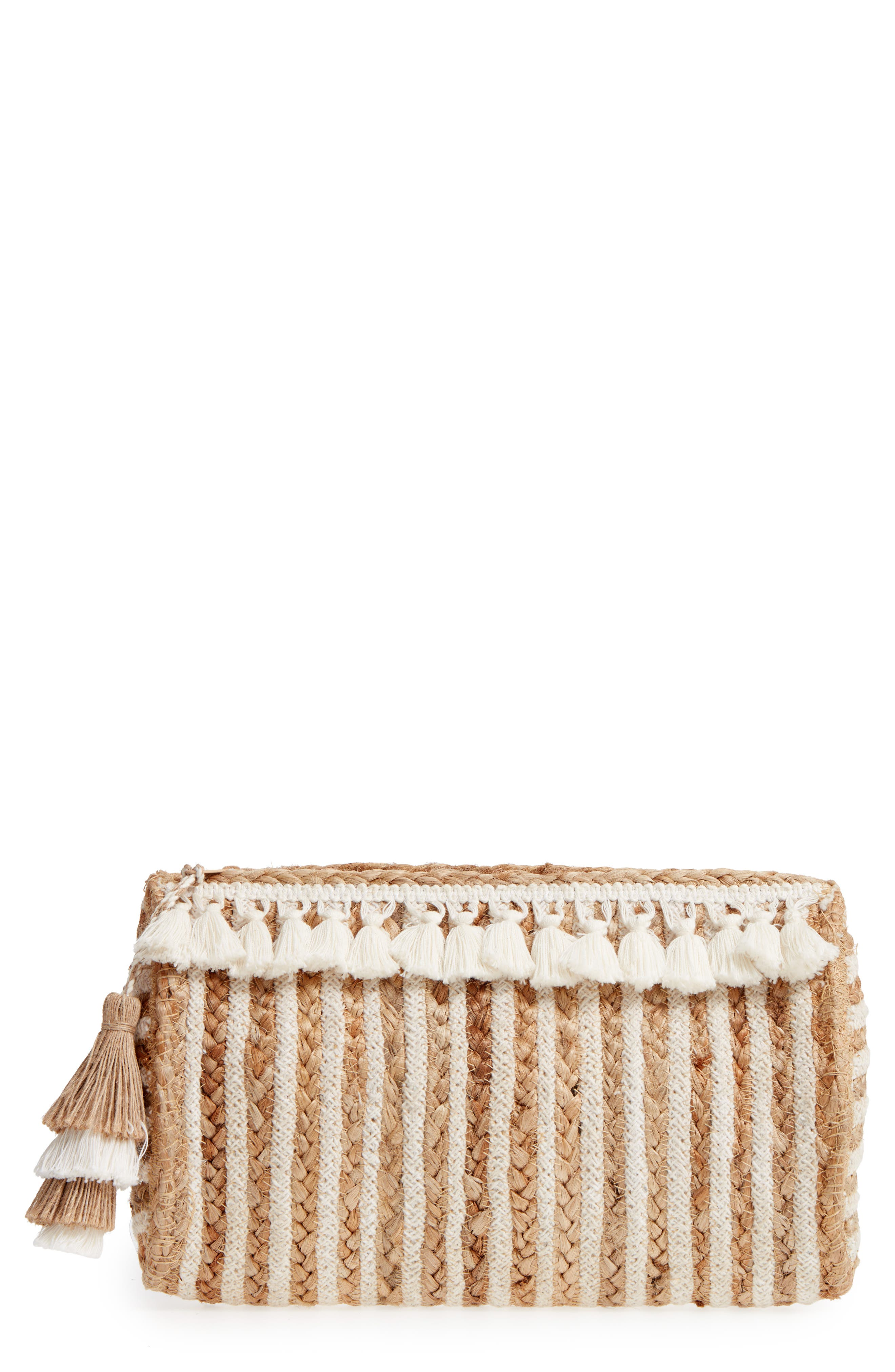 Mare Straw Clutch,                             Main thumbnail 1, color,