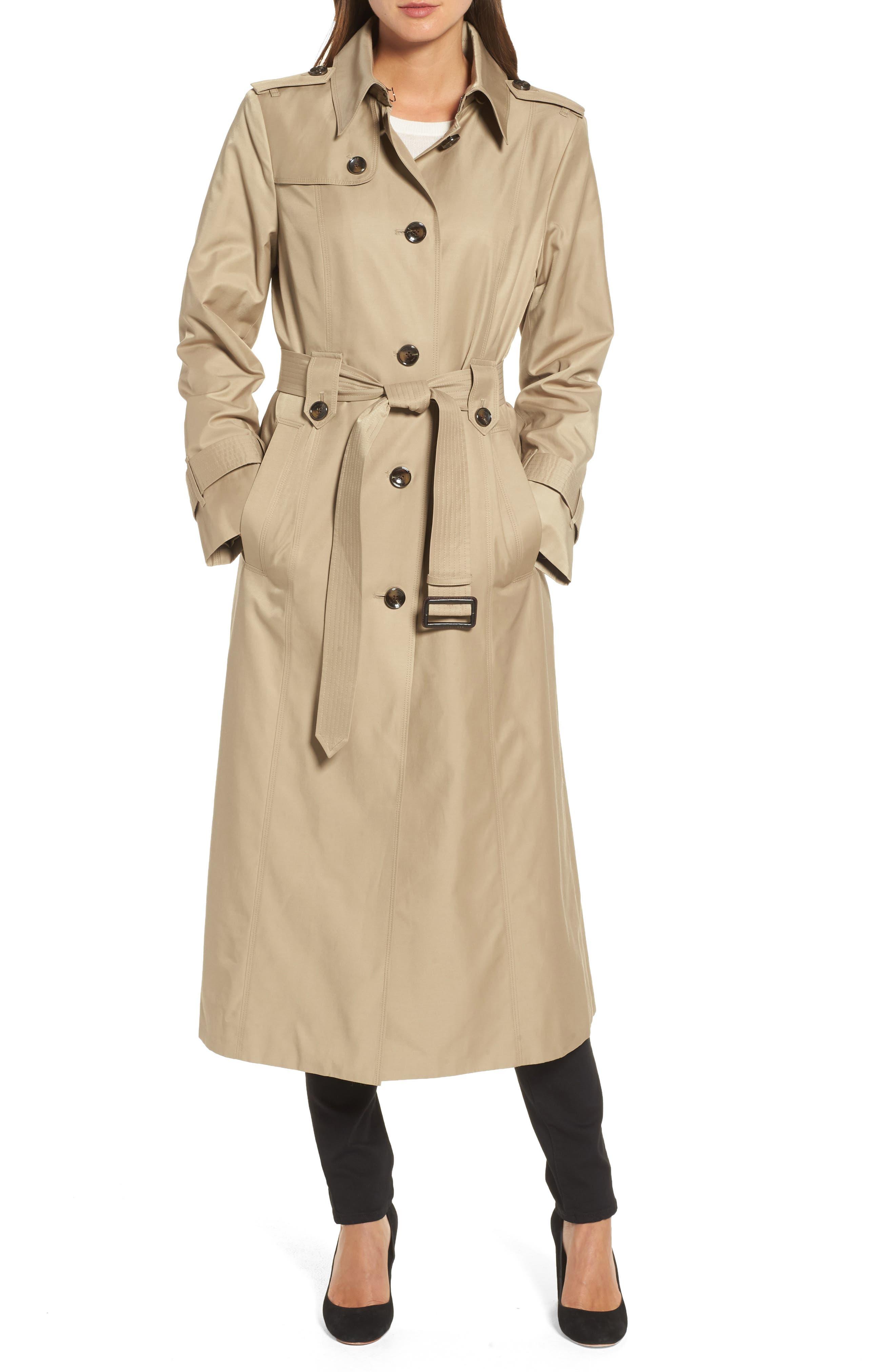 Long Trench Coat,                             Alternate thumbnail 8, color,