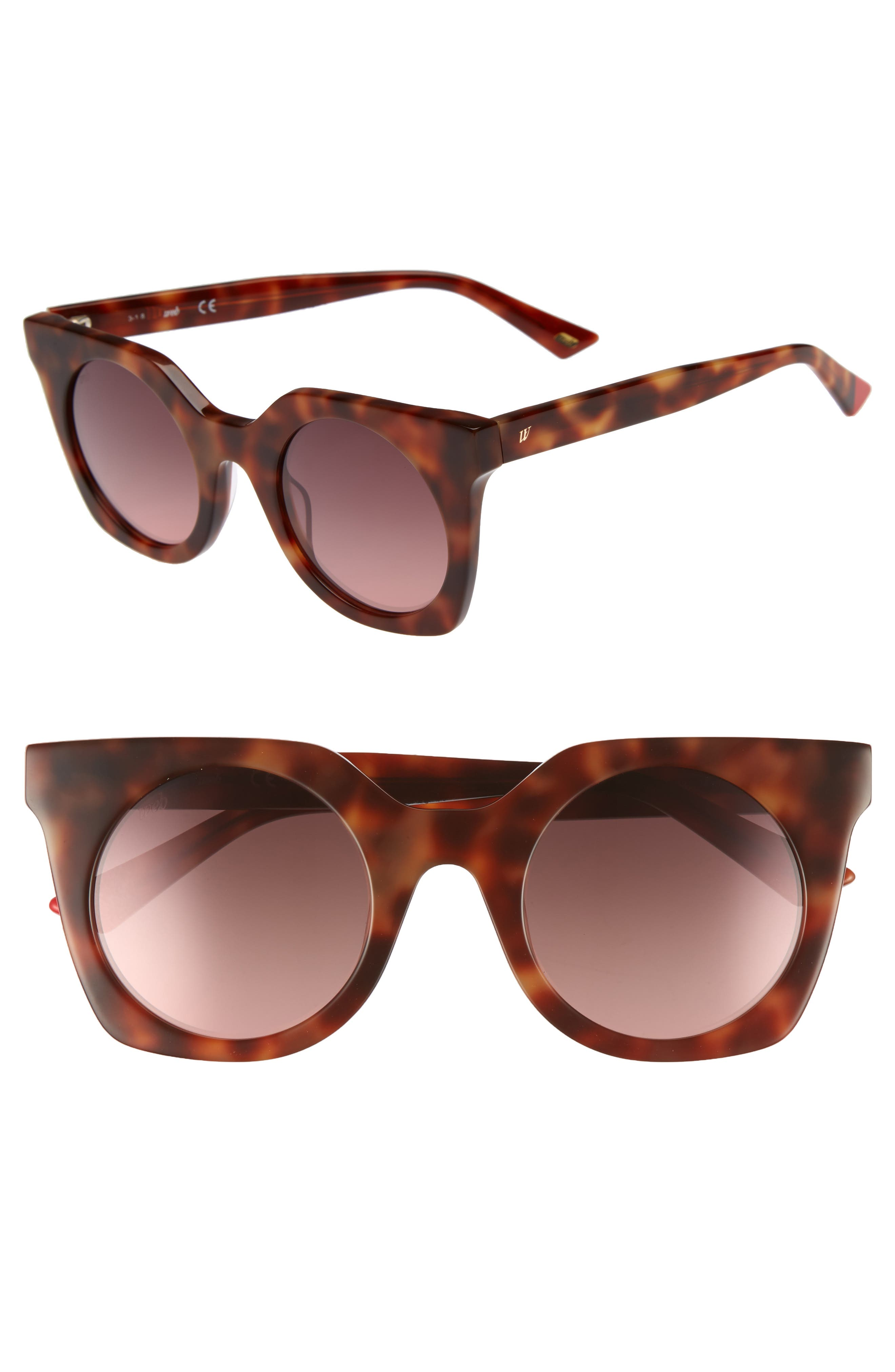 48mm Sunglasses,                         Main,                         color, BLONDE HAVANA/ GRADIENT