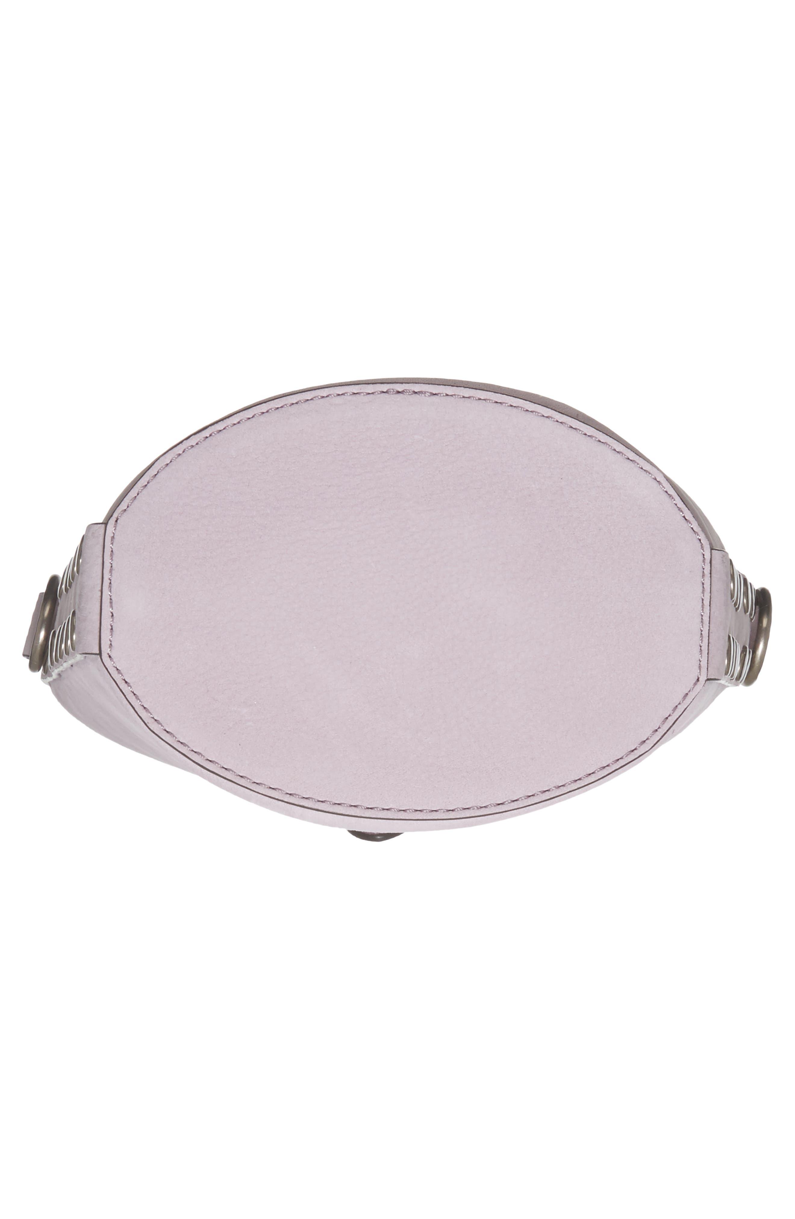 Slim Leather Bucket Bag,                             Alternate thumbnail 7, color,                             533
