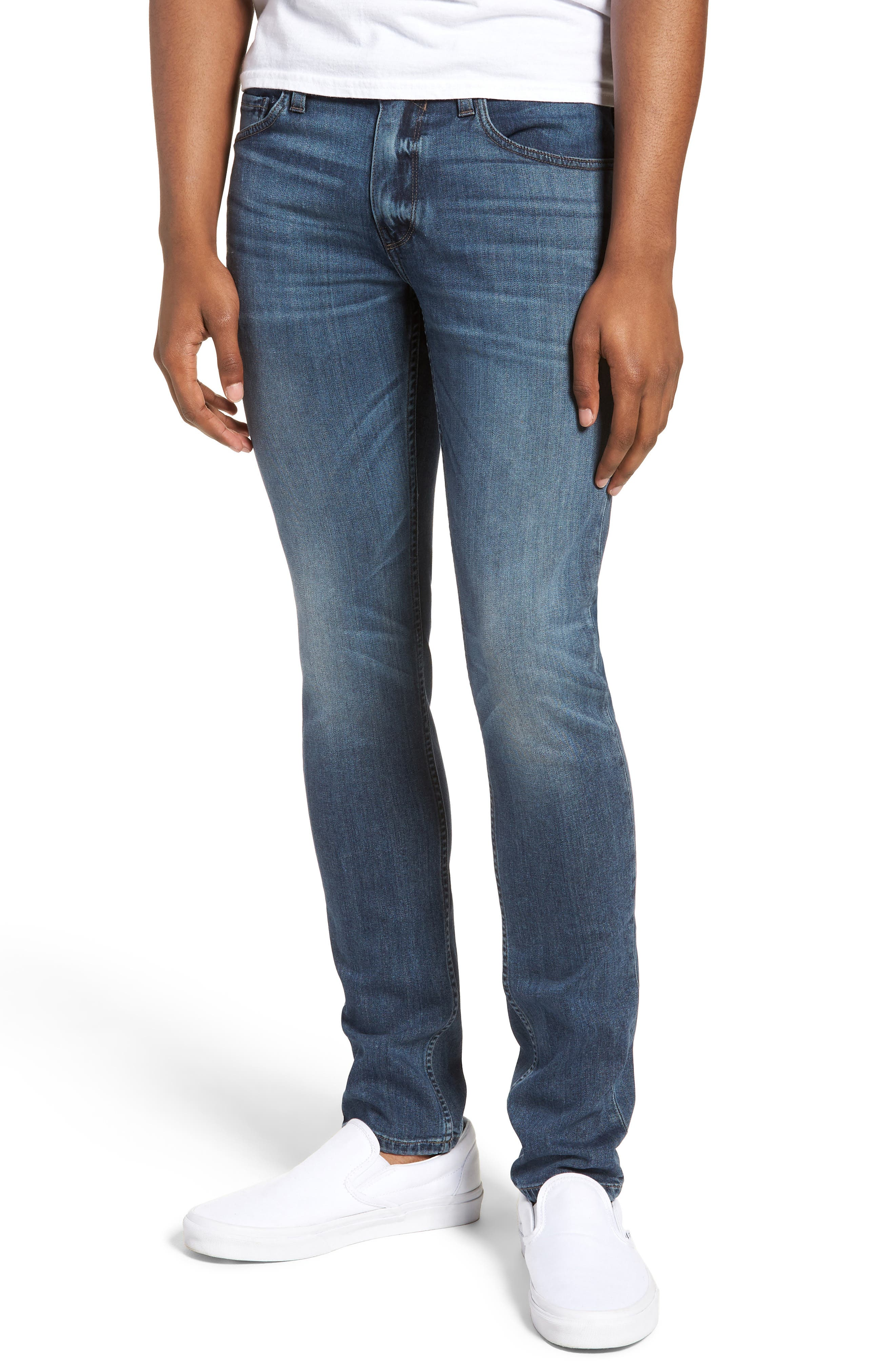Transcend - Croft Skinny Fit Jeans,                             Main thumbnail 1, color,                             GRAMMERCY