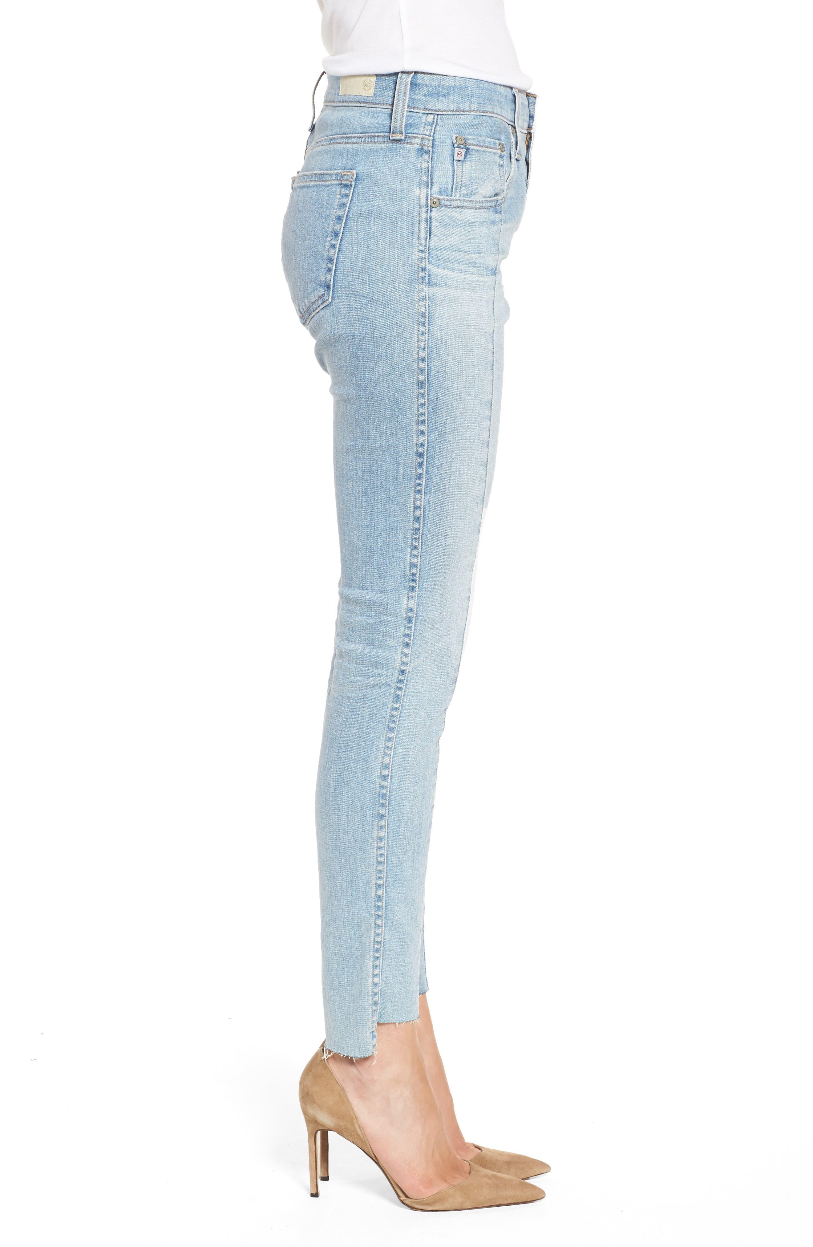 The Farrah High Waist Ankle Skinny Jeans,                             Alternate thumbnail 3, color,