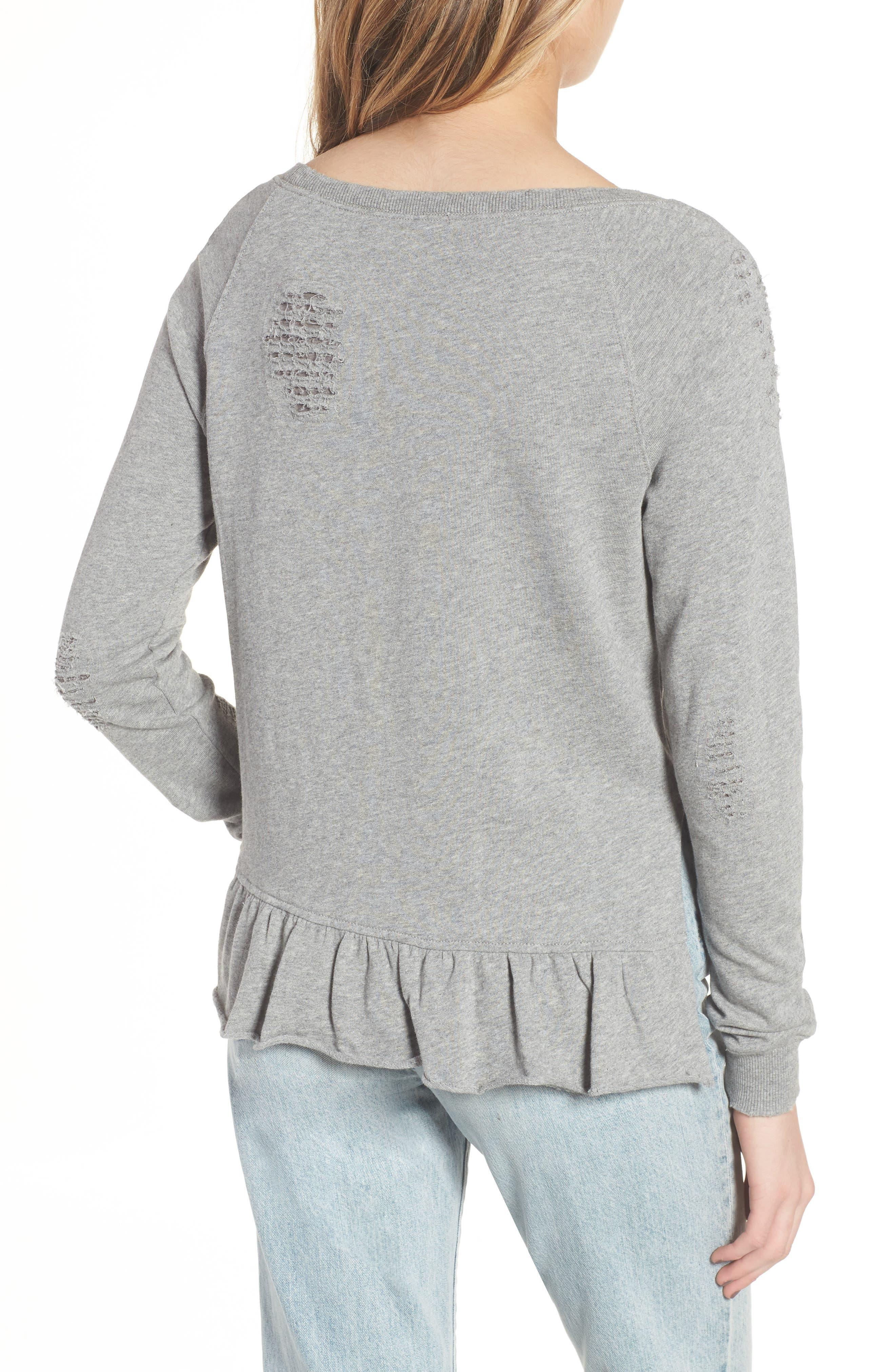 Ruffle Sweatshirt,                             Alternate thumbnail 2, color,                             031