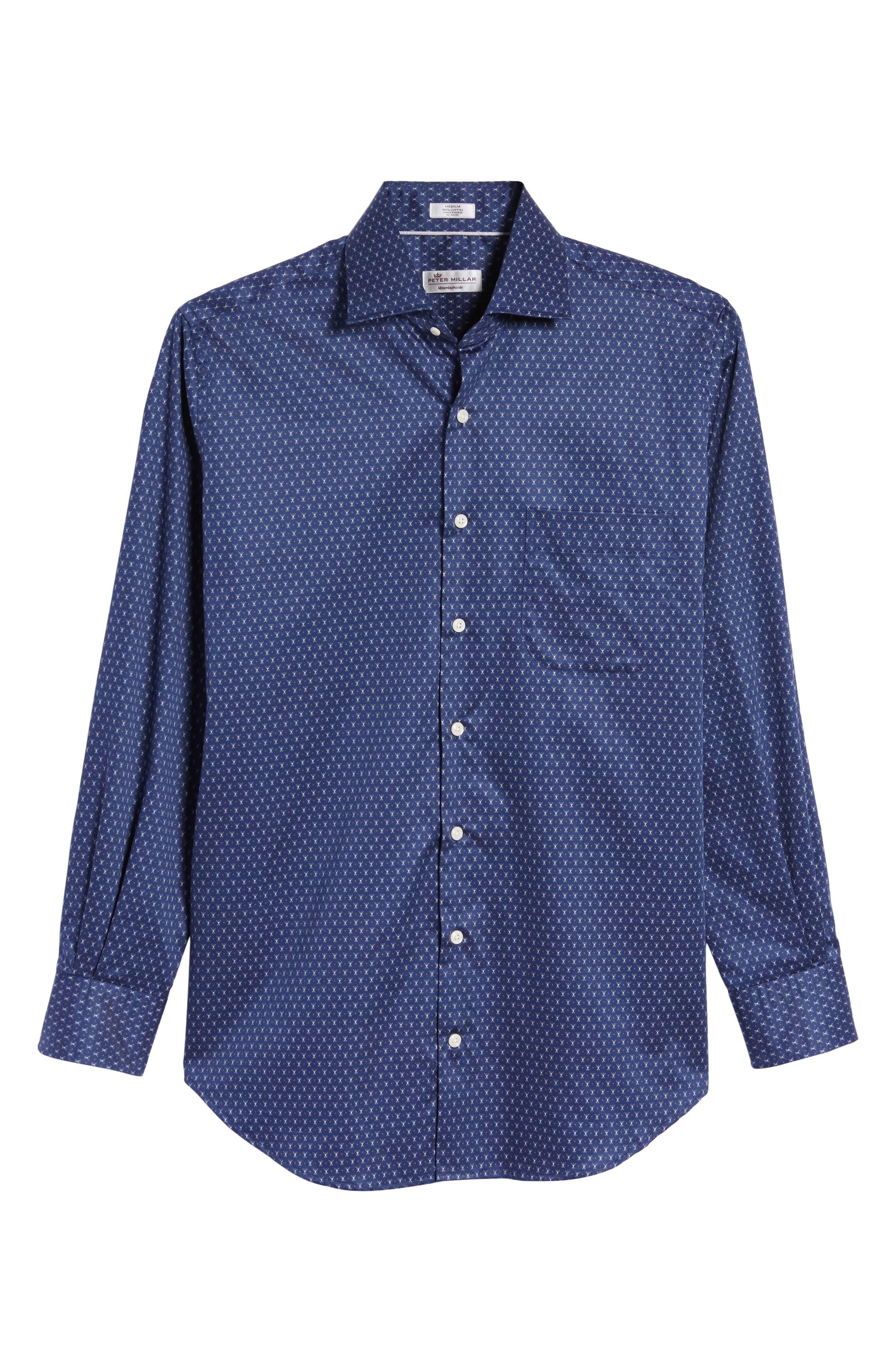Cross Country Regular Fit Print Sport Shirt,                             Alternate thumbnail 6, color,                             424