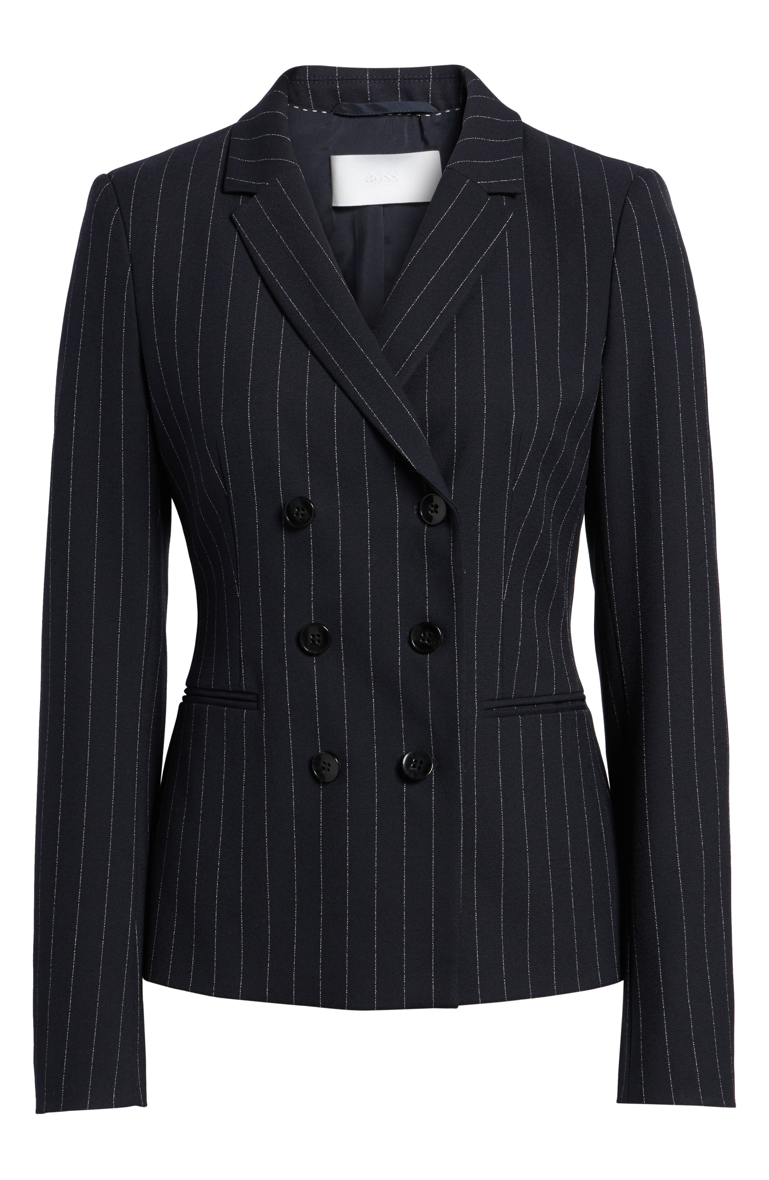 BOSS,                             Jelaya Double Breasted Suit Jacket,                             Alternate thumbnail 5, color,                             461