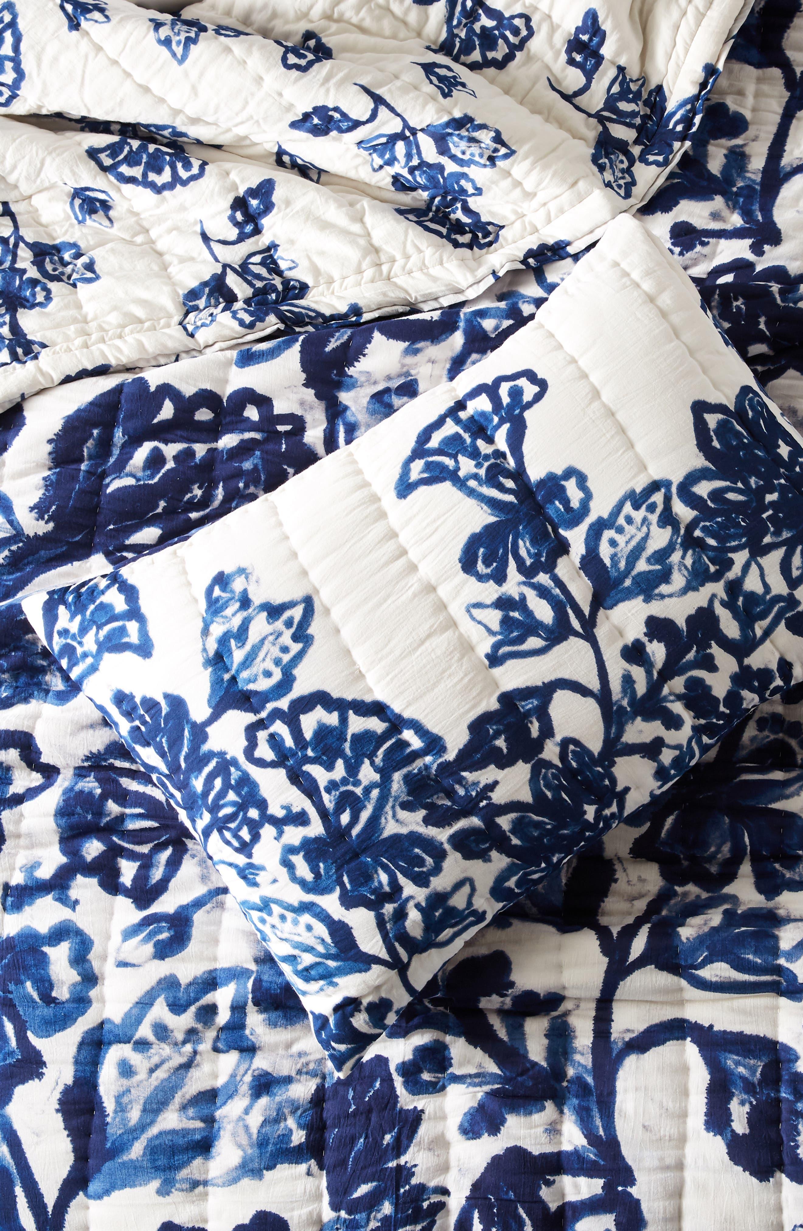 Varela Set of 2 Shams,                             Main thumbnail 1, color,                             BLUE