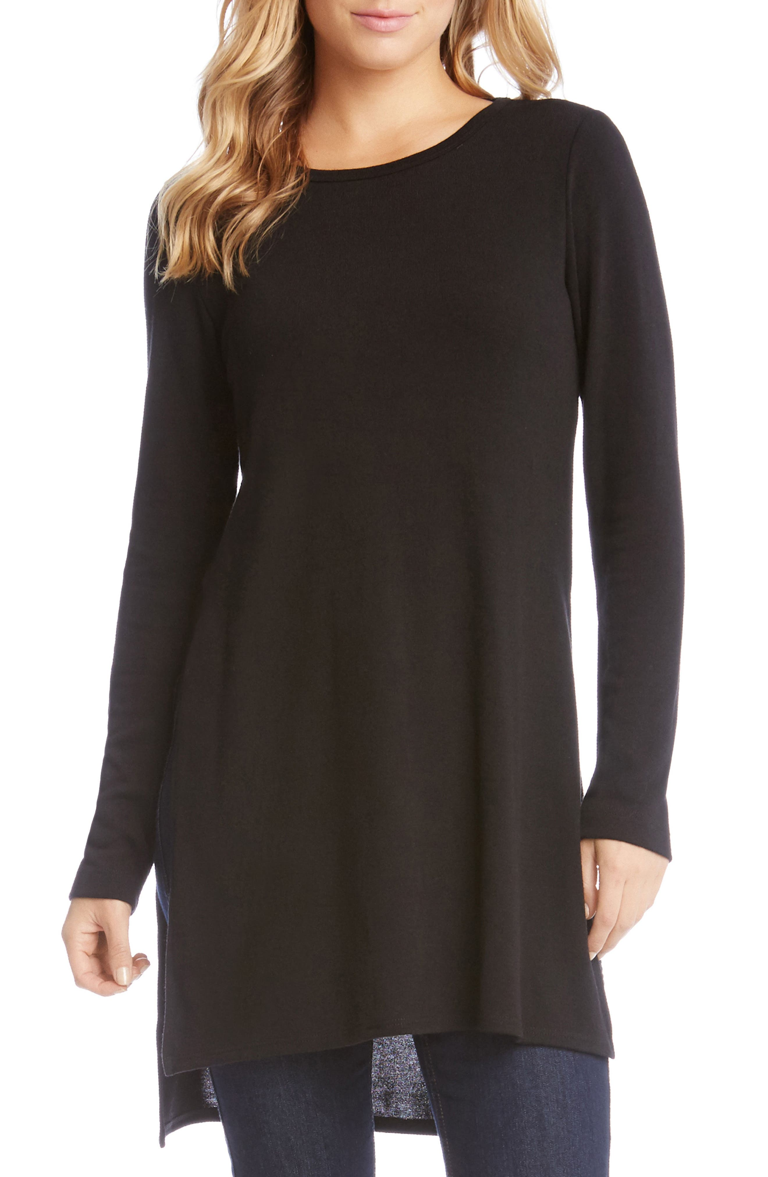 High/Low Sweater Tunic,                             Main thumbnail 1, color,                             001