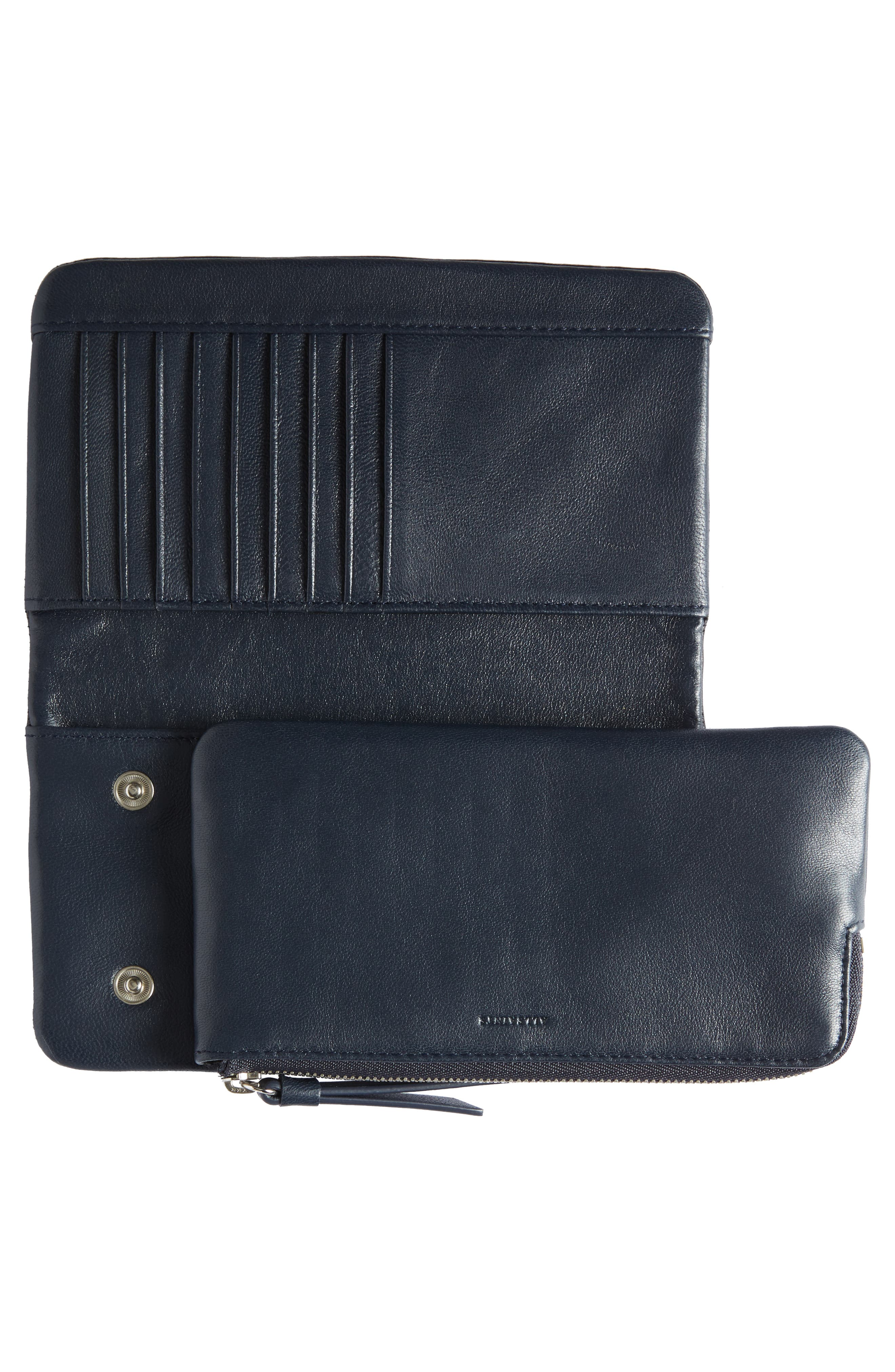 Paradise Lambskin Leather Wallet,                             Alternate thumbnail 4, color,                             002