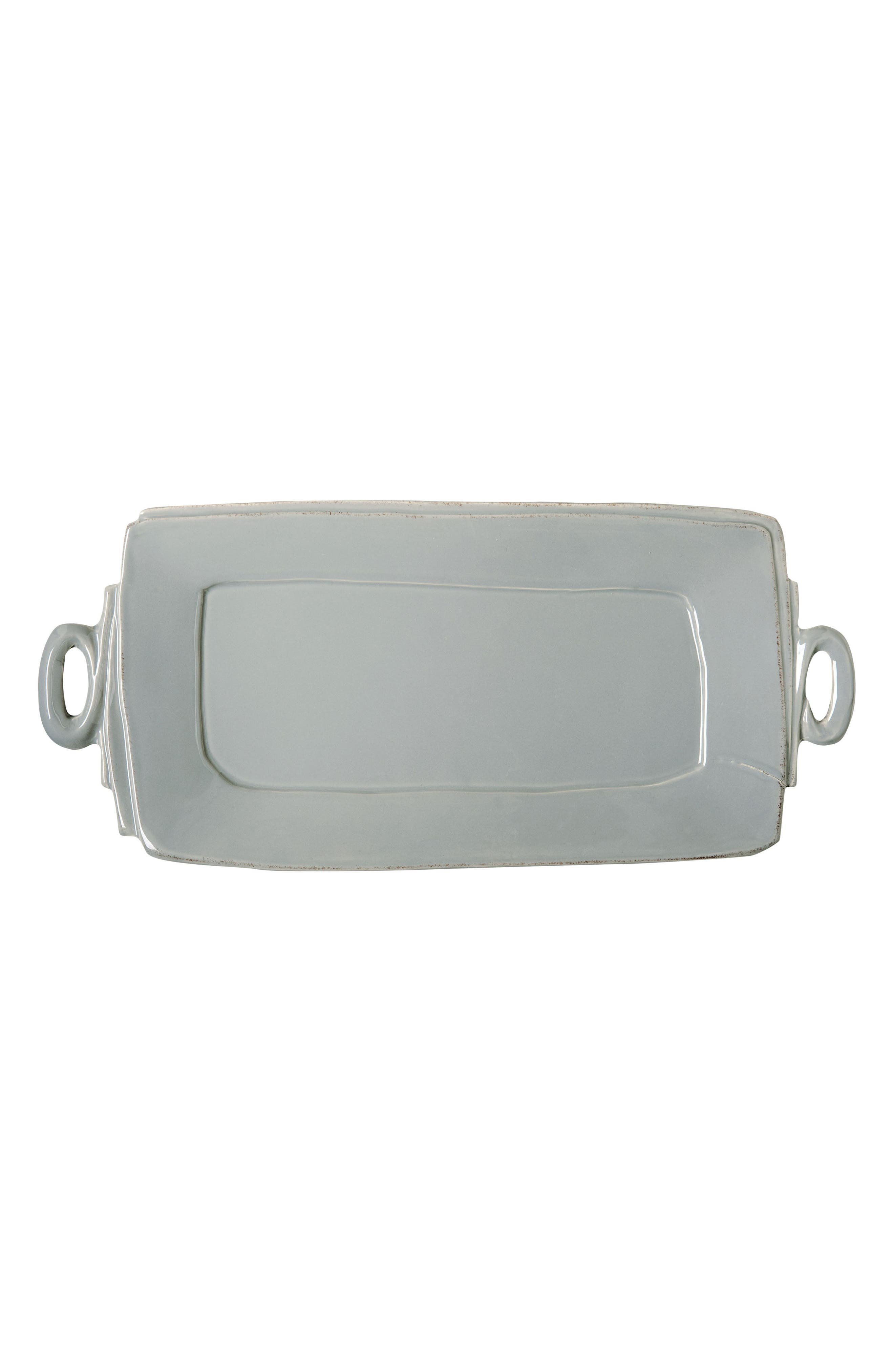 Lastra Handled Rectangular Platter,                         Main,                         color, GRAY