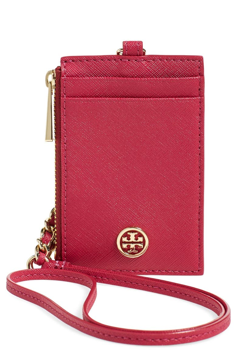 Tory Burch Robinson Saffiano Leather Card Case Nordstrom