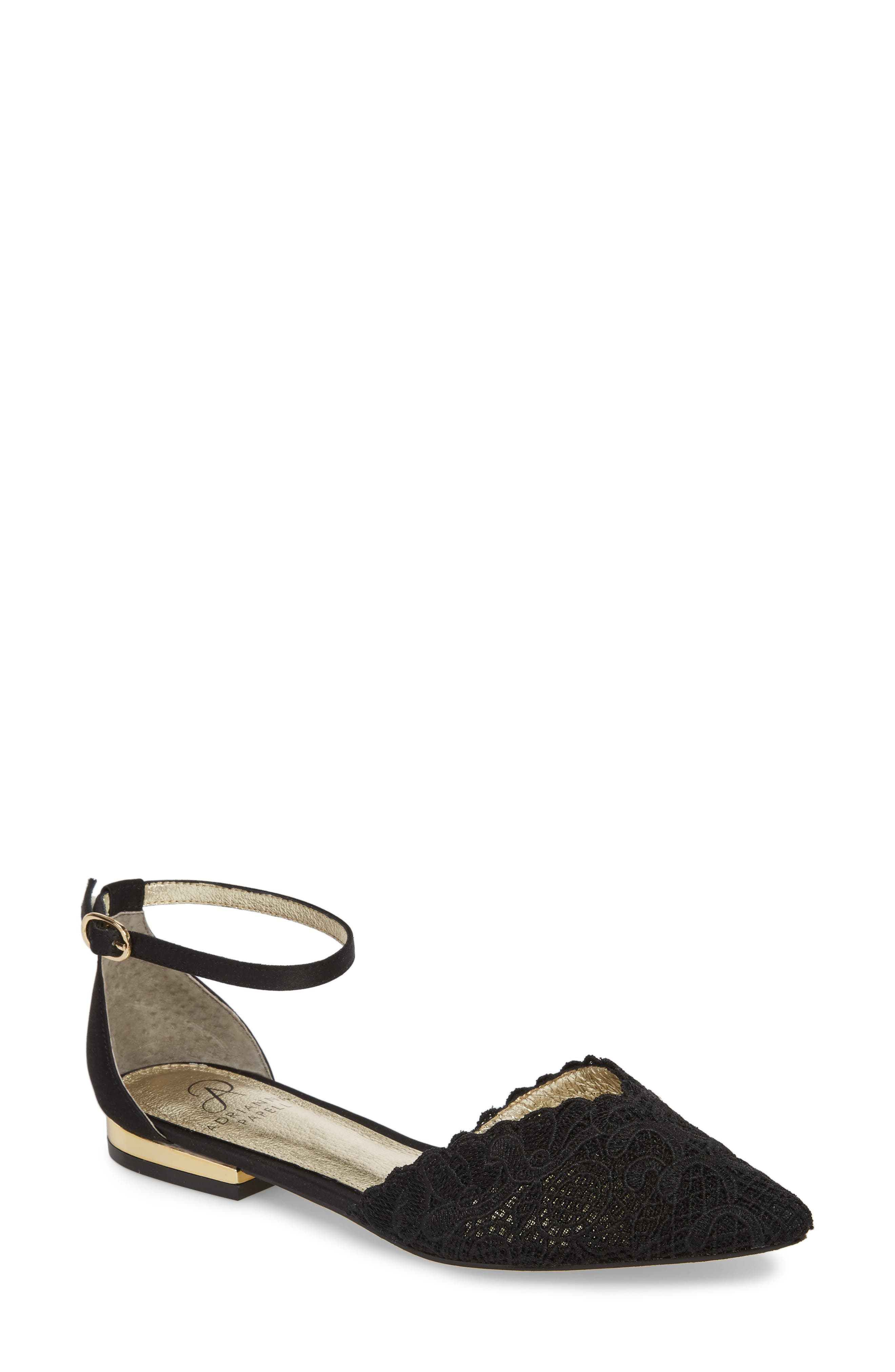 Trala Ankle Strap Flat,                         Main,                         color, 001