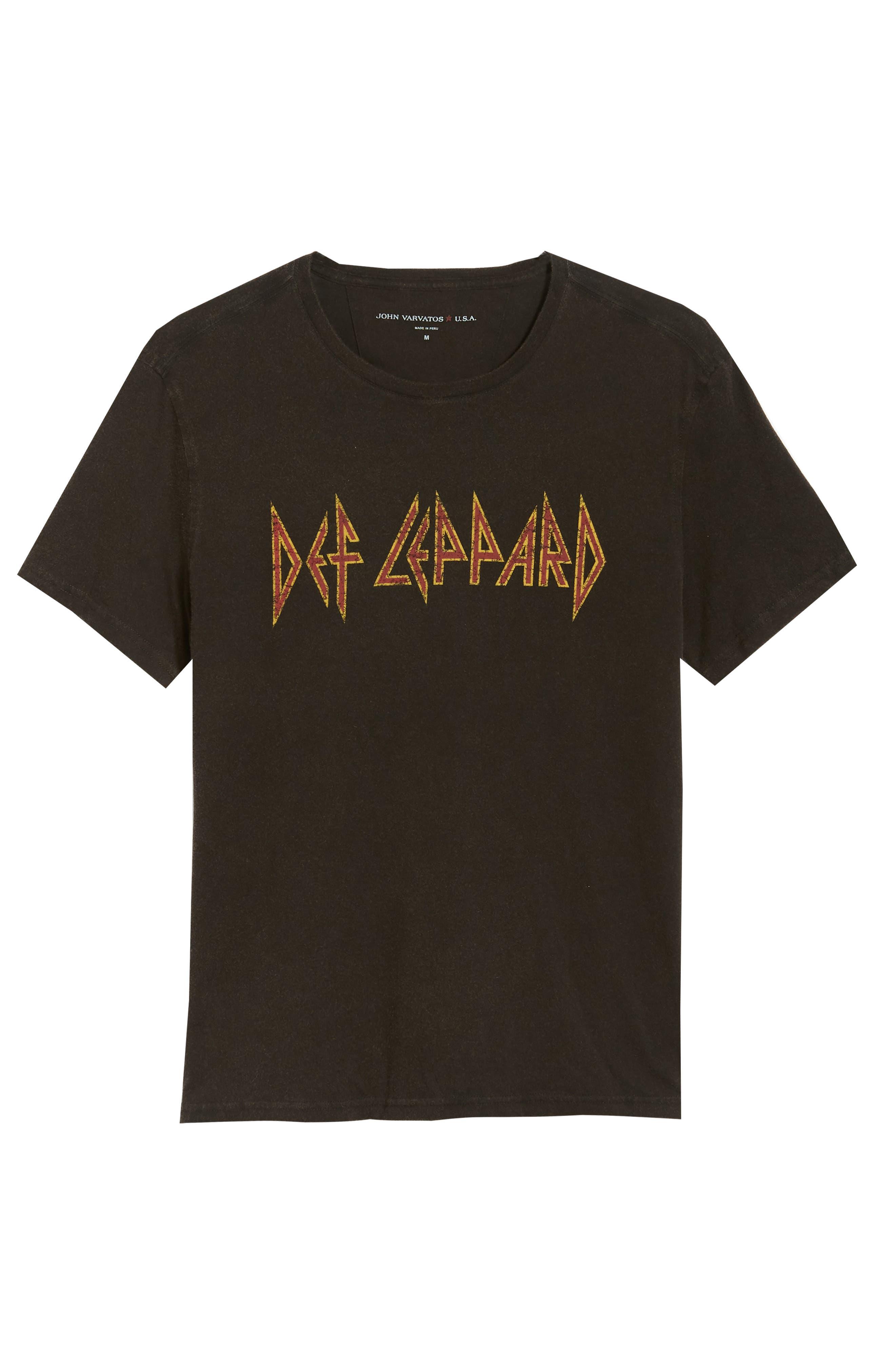 Def Leppard Graphic T-Shirt,                             Alternate thumbnail 6, color,                             001