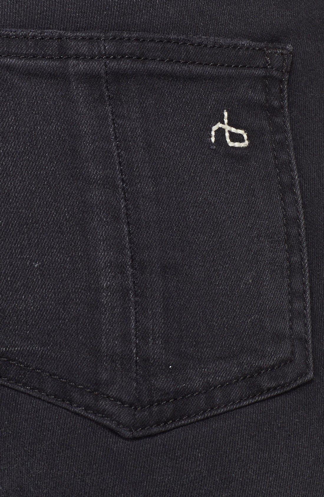 RAG & BONE,                             JEAN High Rise Ultra Skinny Jeans,                             Alternate thumbnail 3, color,                             001