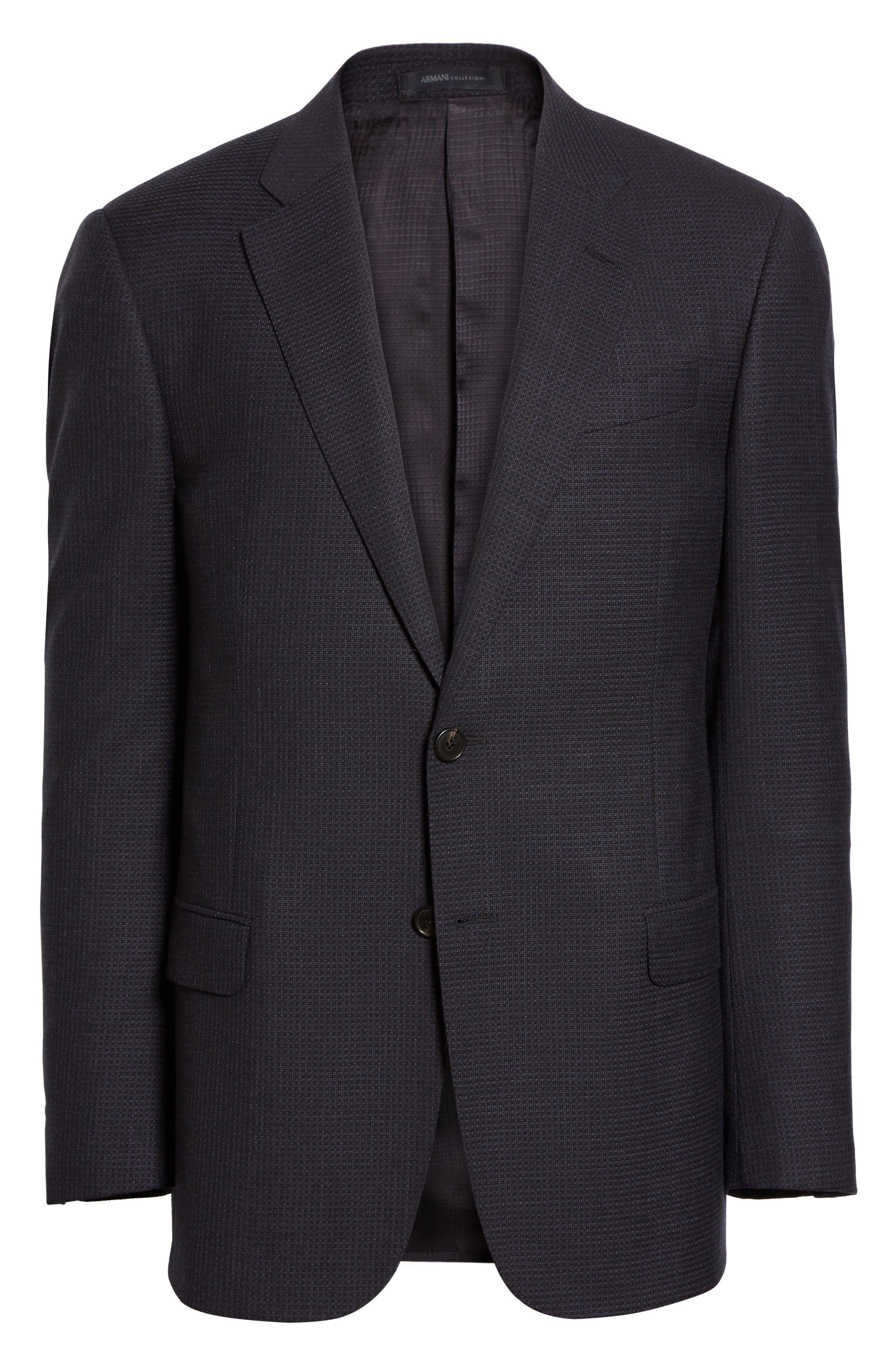Trim Fit Check Wool Sport Coat,                             Alternate thumbnail 5, color,                             410