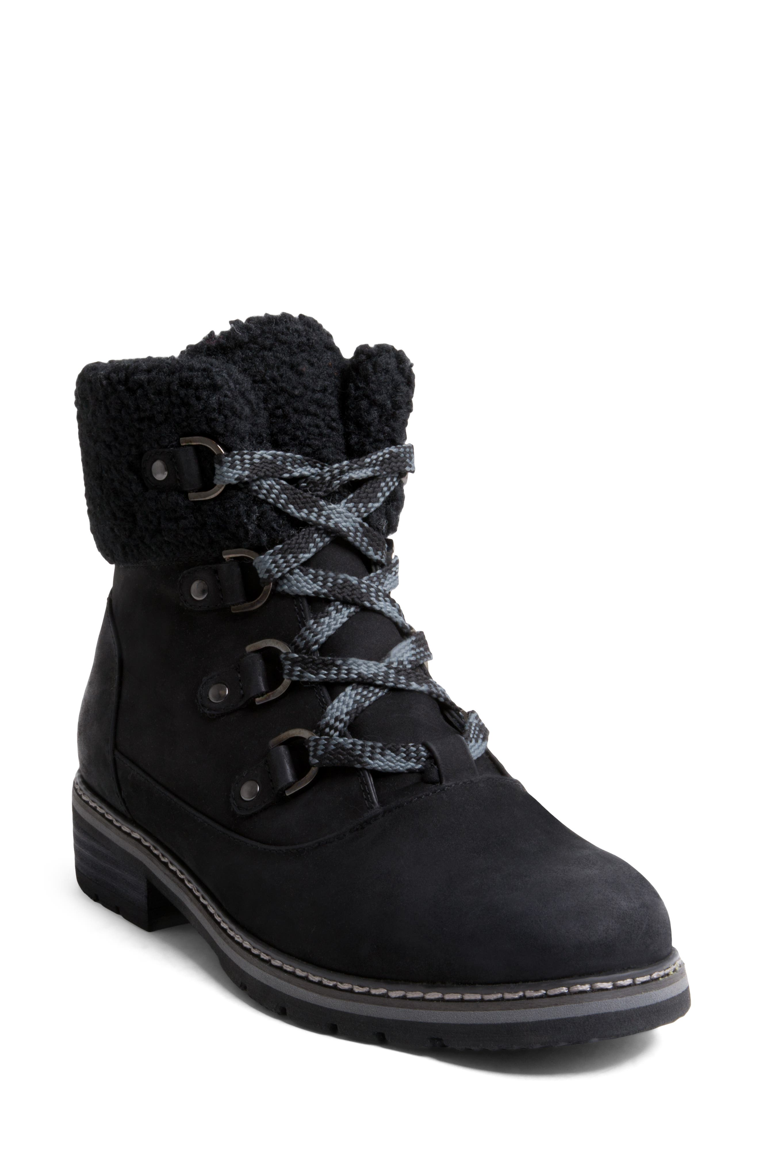 Vanessa Waterproof Boot,                         Main,                         color, BLACK NUBUCK LEATHER