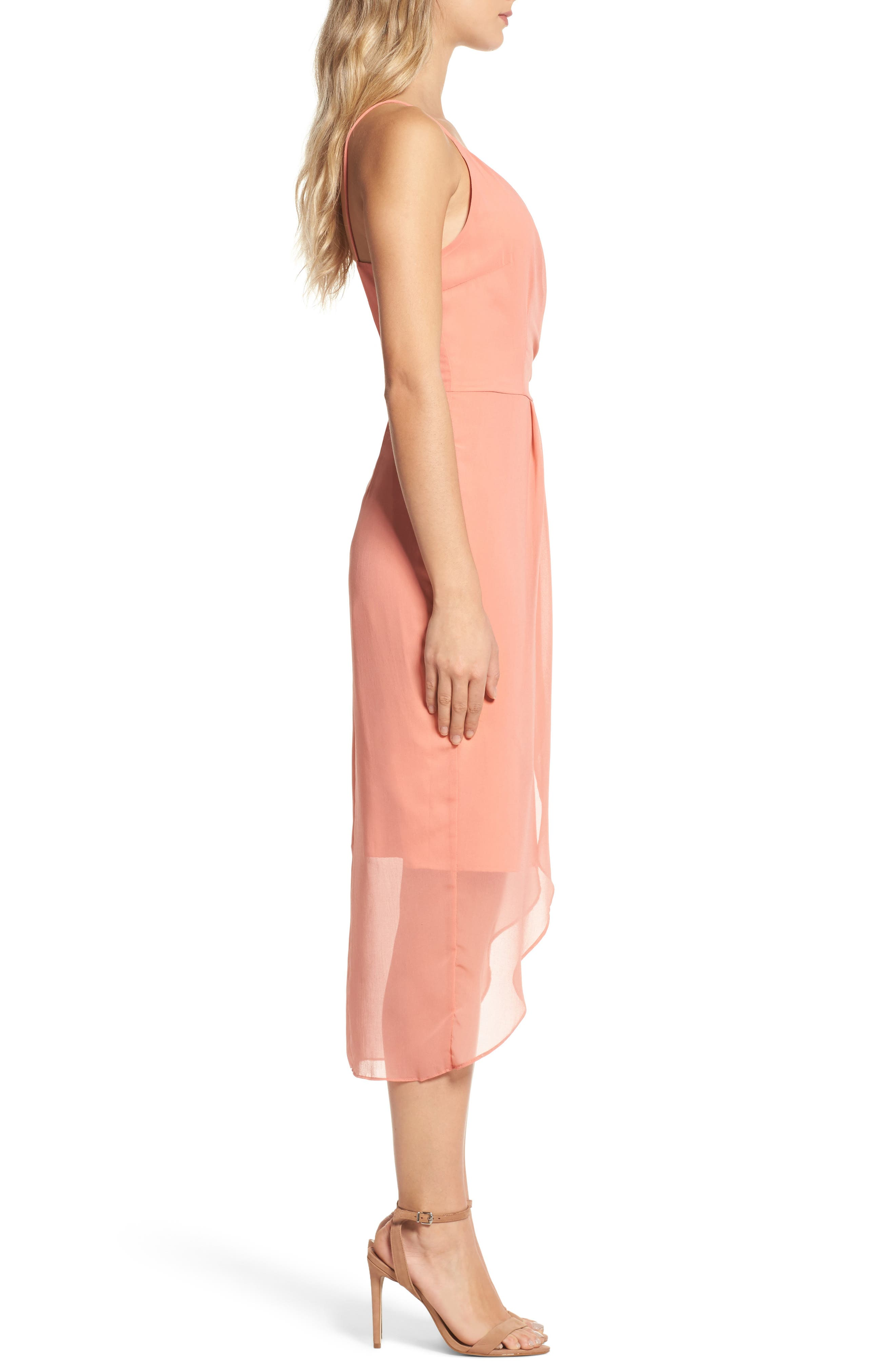Flame of the Forest Midi Dress,                             Alternate thumbnail 3, color,                             680
