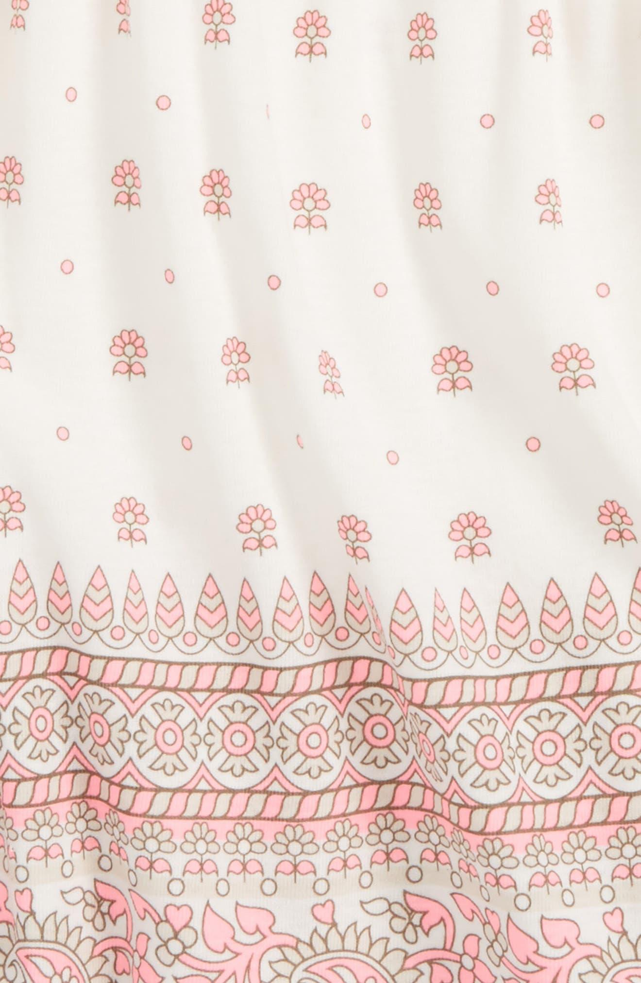 Peek Border Print Dress,                             Main thumbnail 1, color,                             650