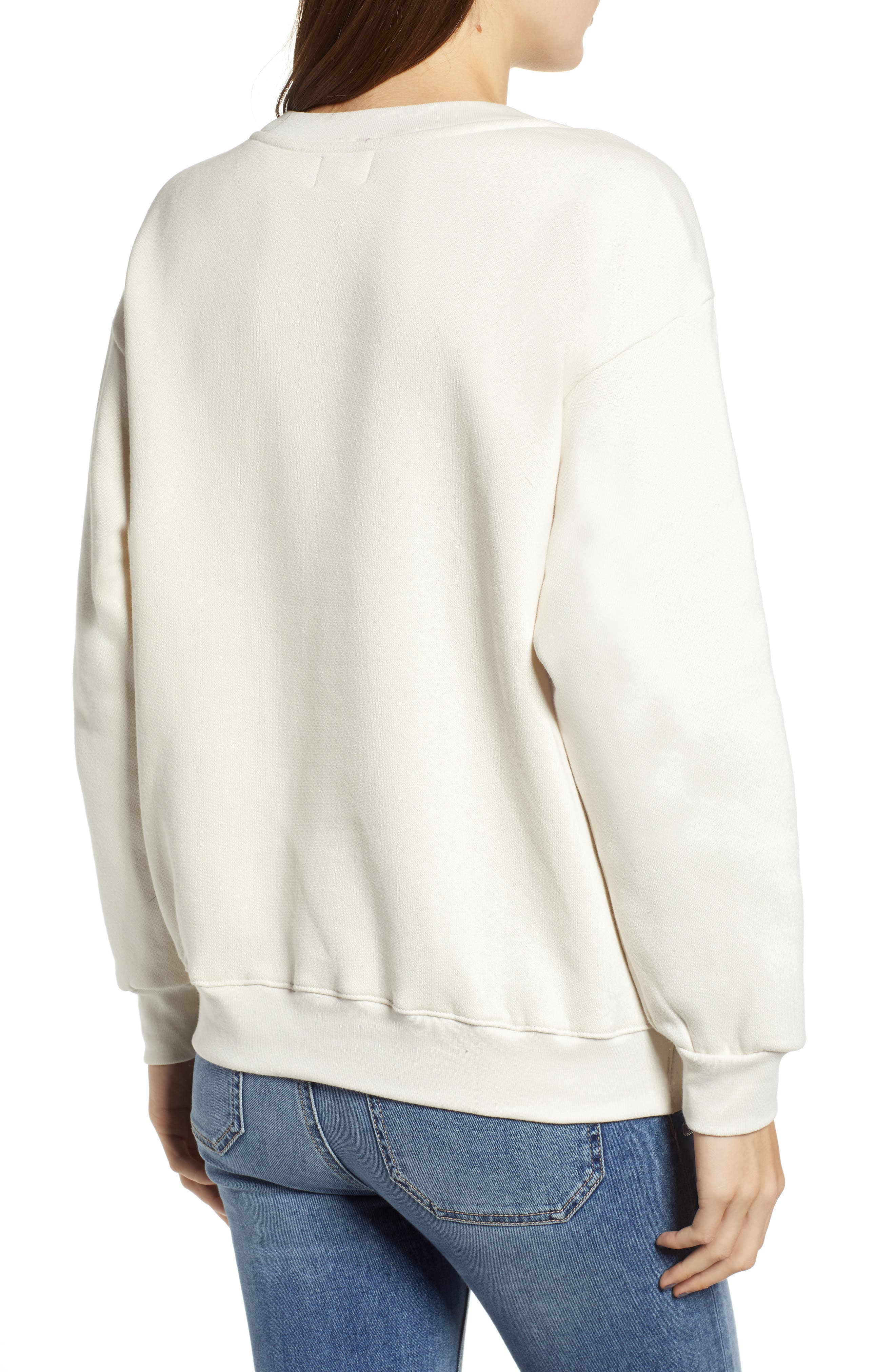 Side Zip Stripe Pullover,                             Alternate thumbnail 2, color,                             100