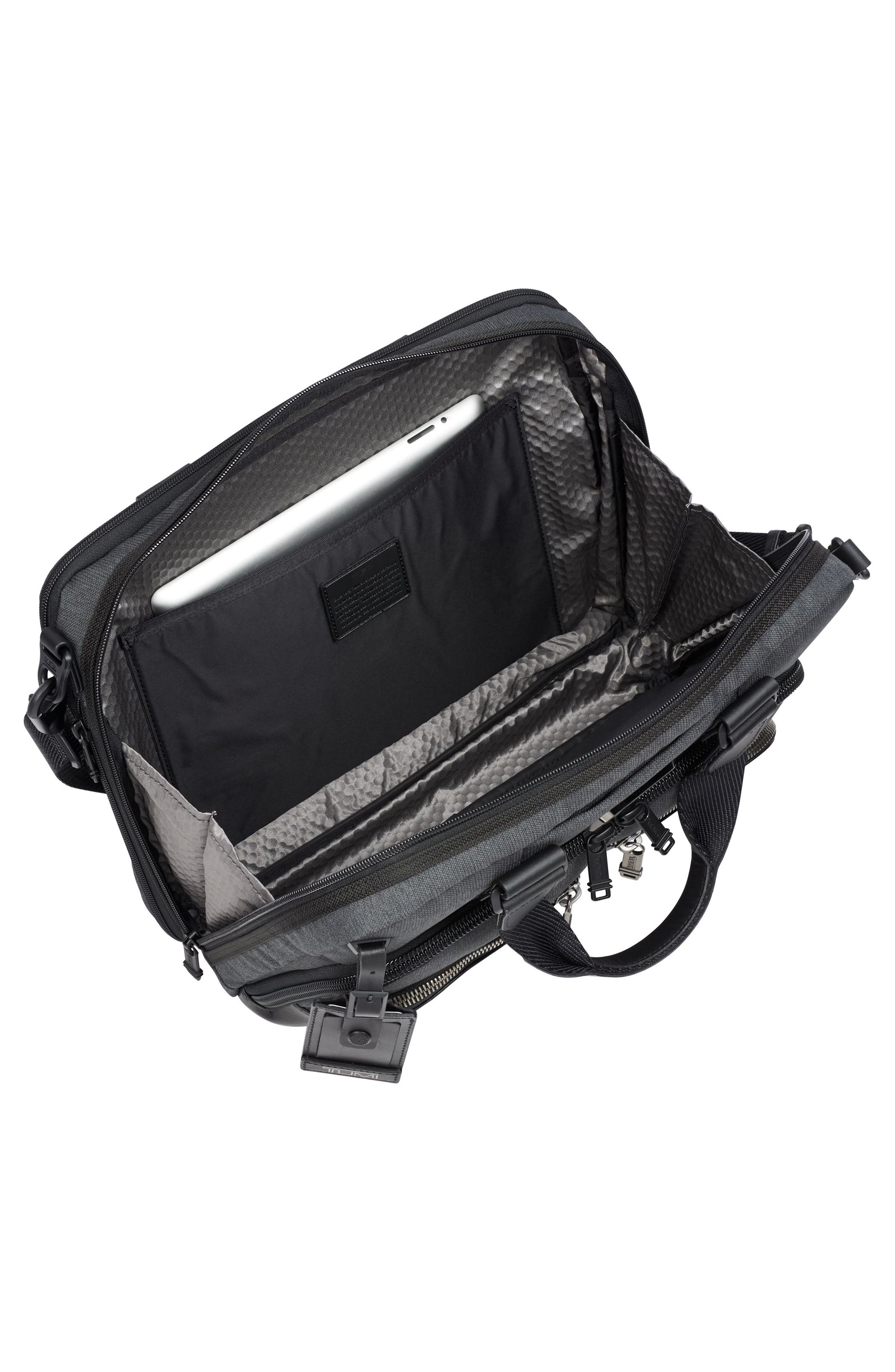Albany - Slim Commuter Briefcase,                             Alternate thumbnail 3, color,                             ANTHRACITE