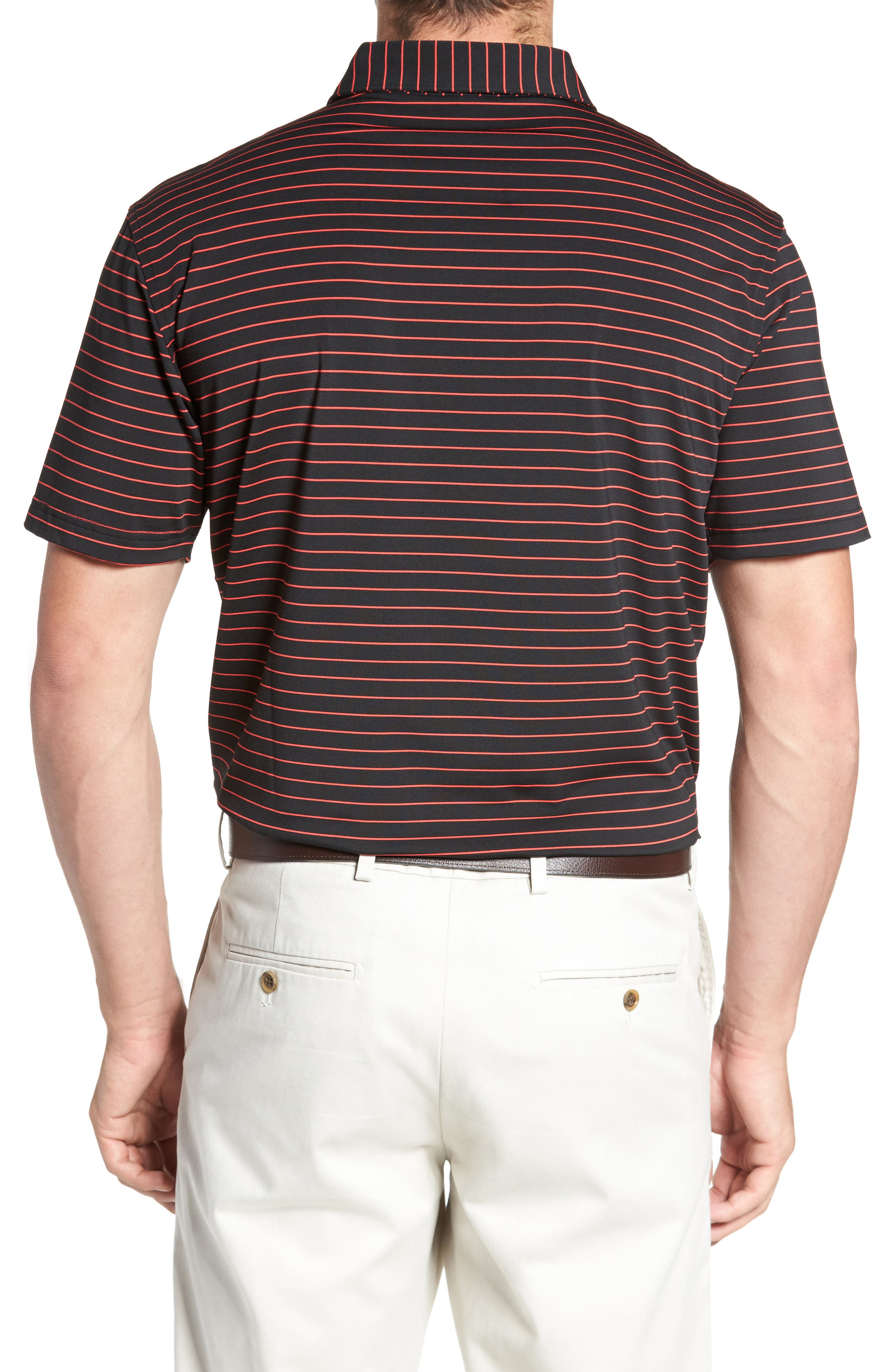 Halifax Pinstripe Stretch Jersey Polo,                             Alternate thumbnail 2, color,                             001