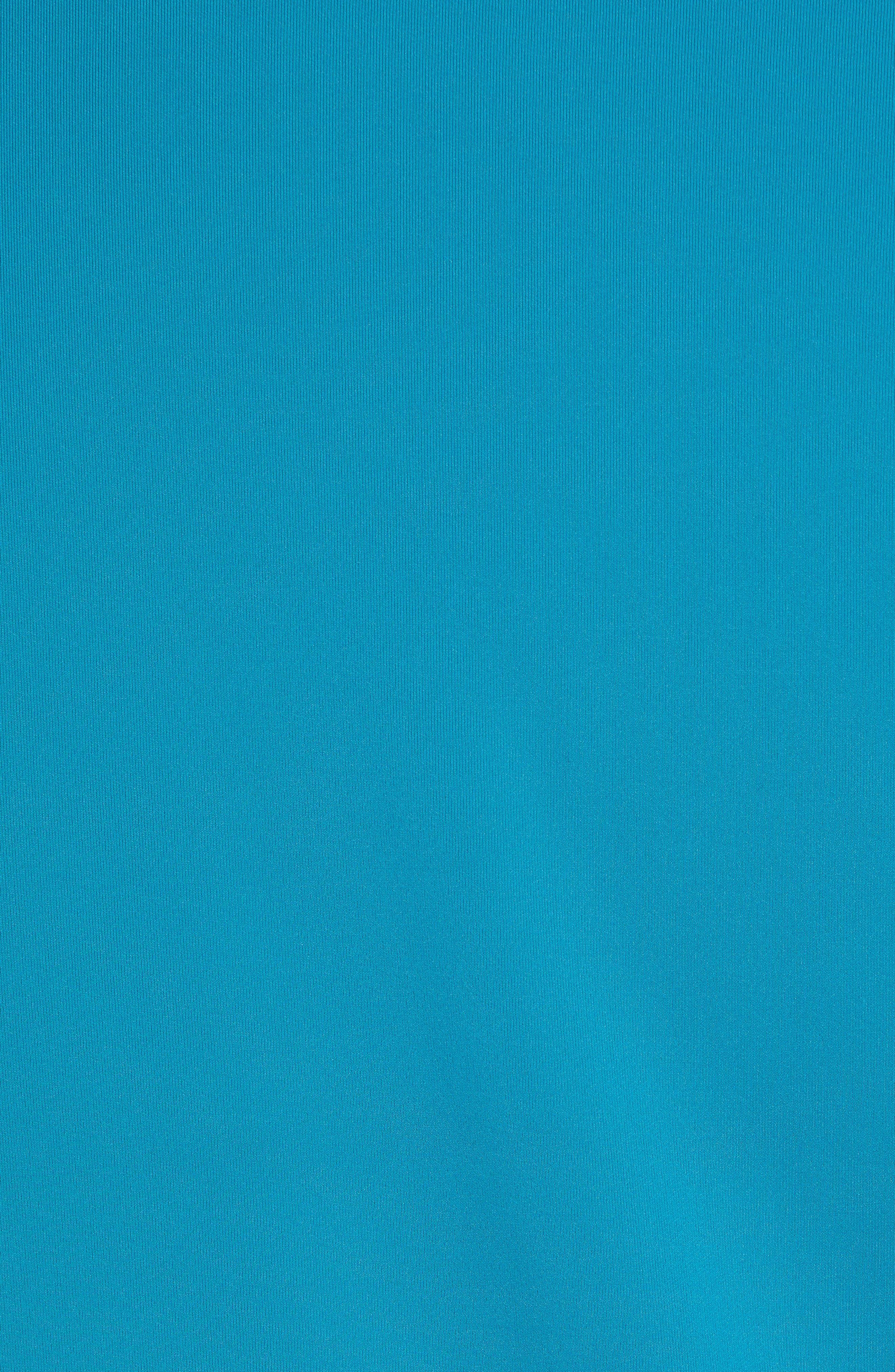 Traverse Regular Fit Quarter Zip Pullover,                             Alternate thumbnail 5, color,                             TEAL BLUE
