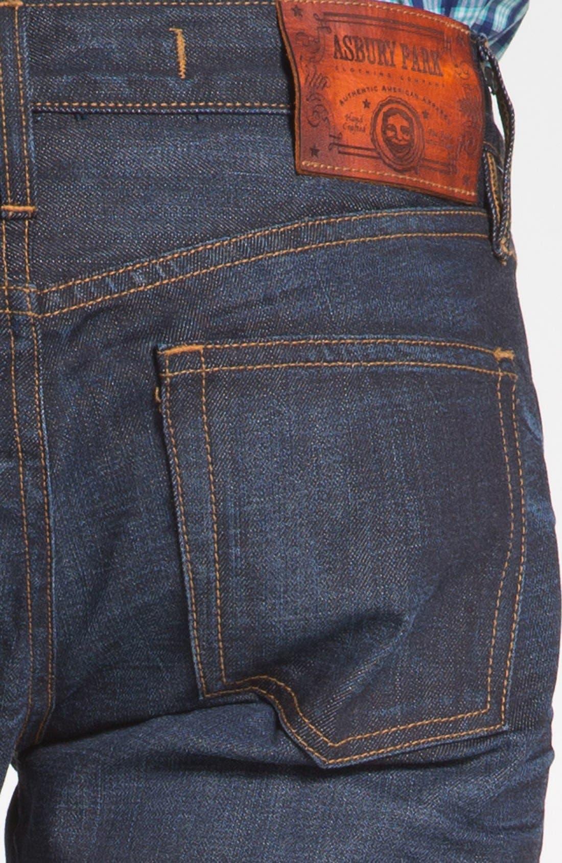 ASBURY PARK,                             '1888 Skinny Fit' Raw Selvedge Jeans,                             Alternate thumbnail 2, color,                             401