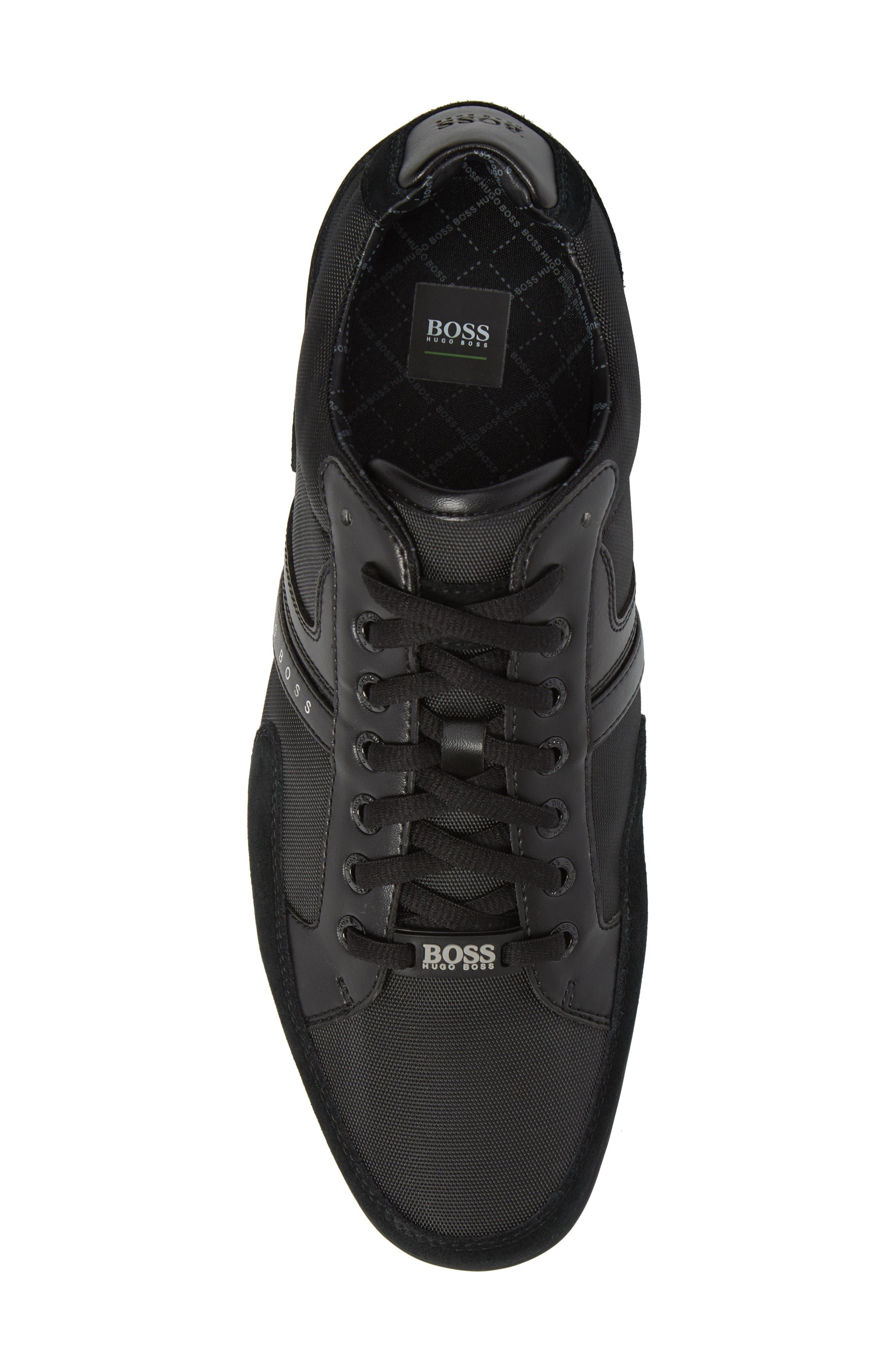 BOSS,                             Hugo Boss Sneaker,                             Alternate thumbnail 5, color,                             001
