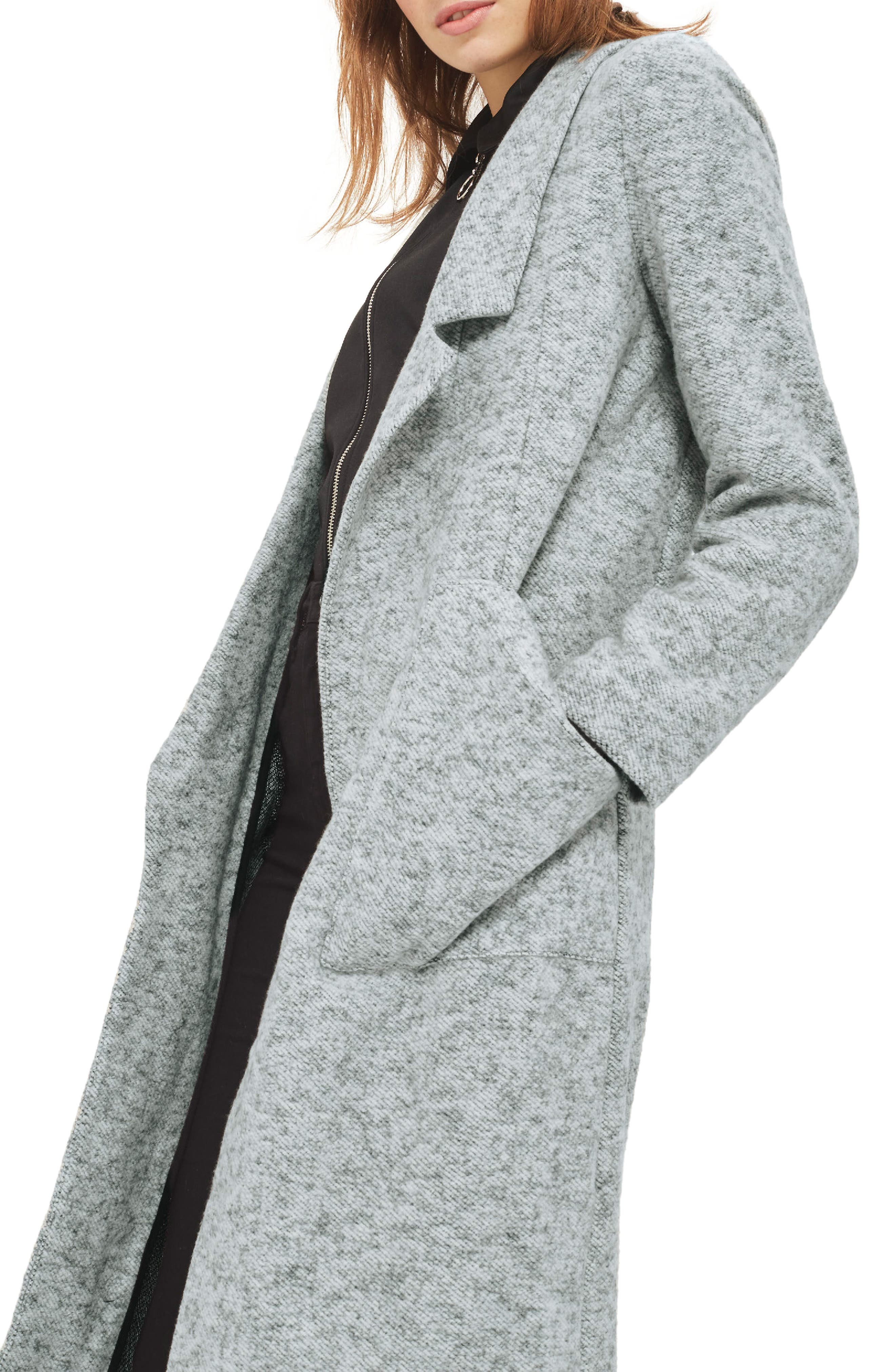 Brushback Jersey Coat,                             Main thumbnail 1, color,                             020