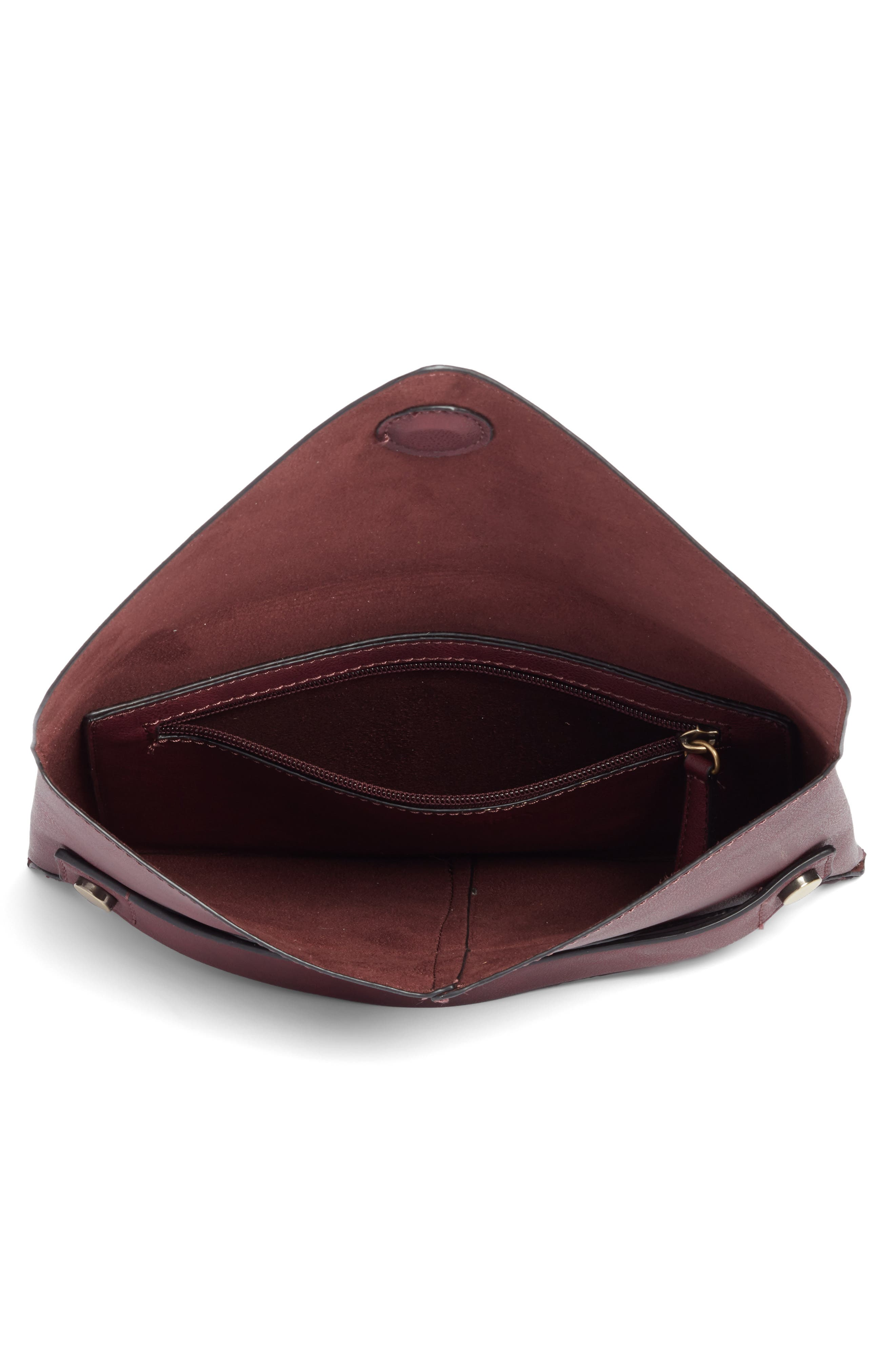 Karen Faux Leather Envelope Clutch,                             Alternate thumbnail 12, color,
