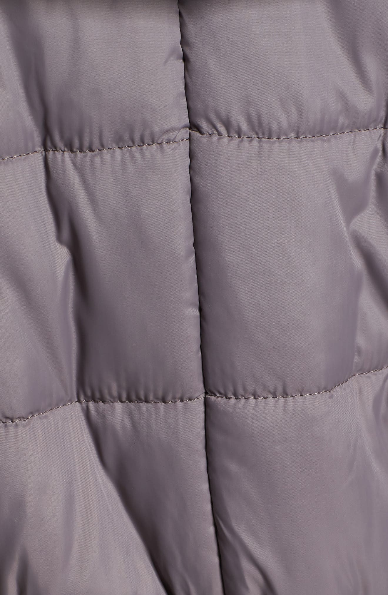 Madison Quilted 3-in-1 Maternity Puffer Coat with Faux Fur Trim,                             Alternate thumbnail 7, color,                             GREY