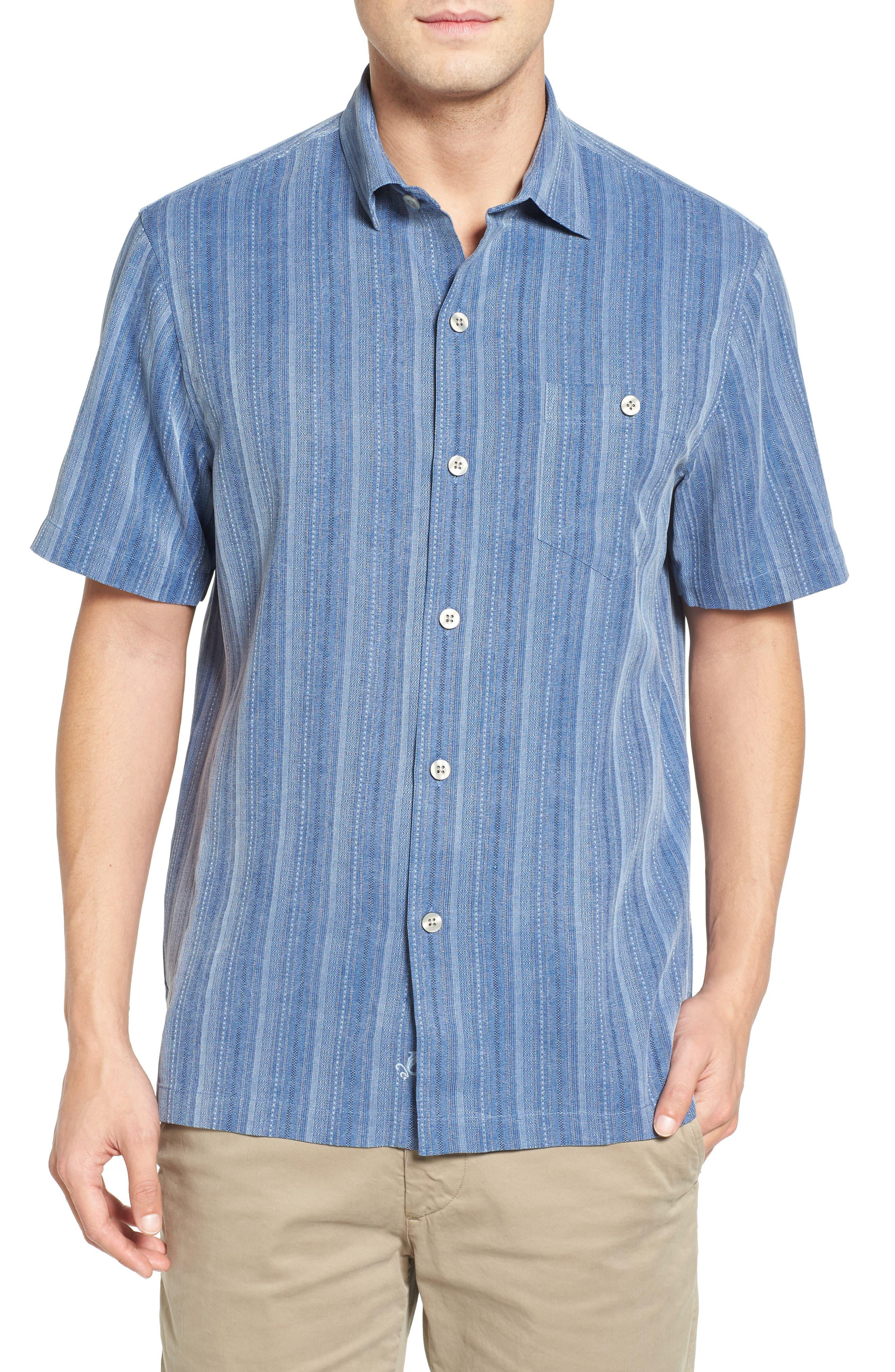Zaldera Stripe Silk Camp Shirt,                             Main thumbnail 3, color,