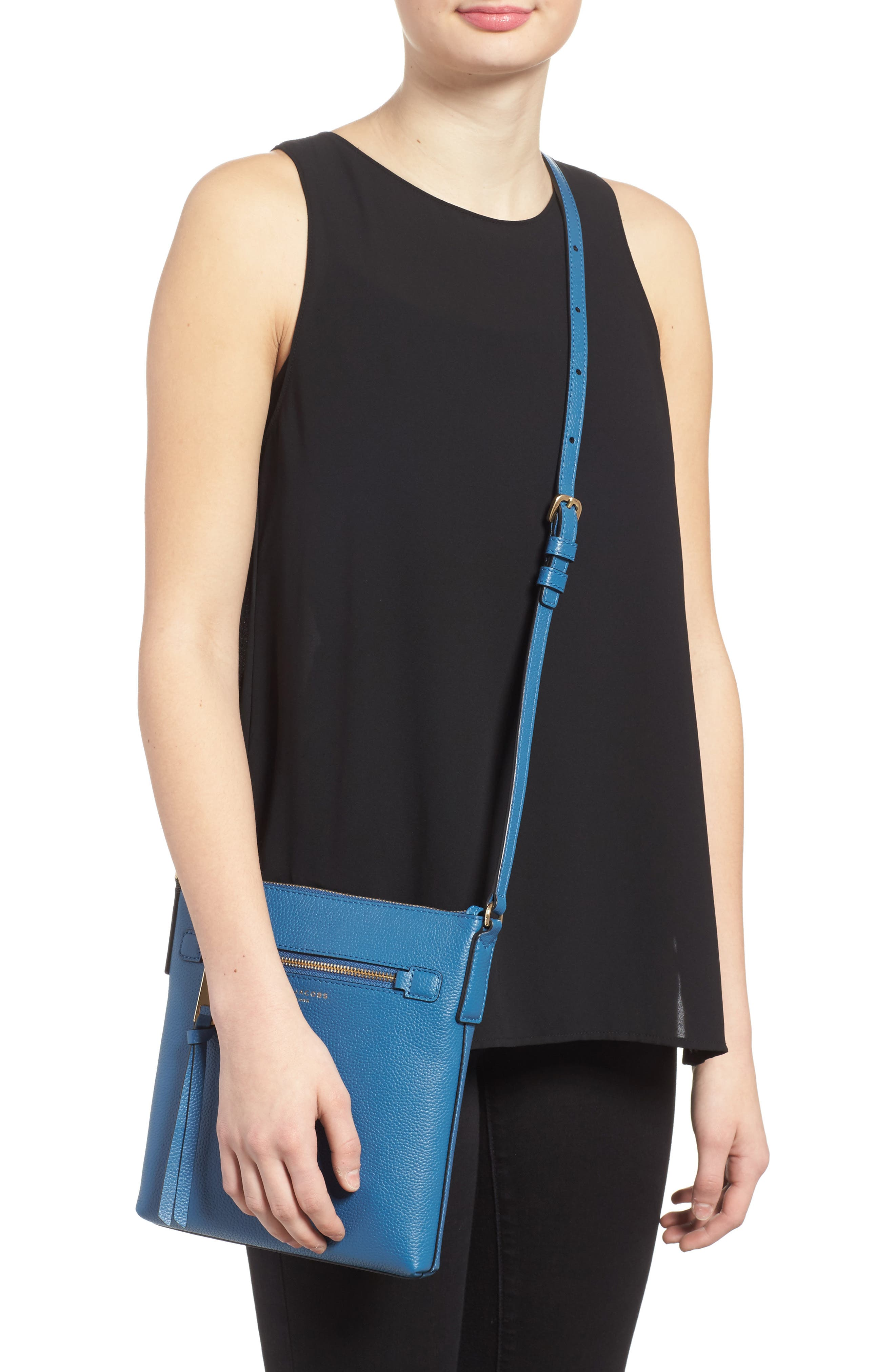 Recruit North/South Leather Crossbody Bag,                             Alternate thumbnail 2, color,                             476