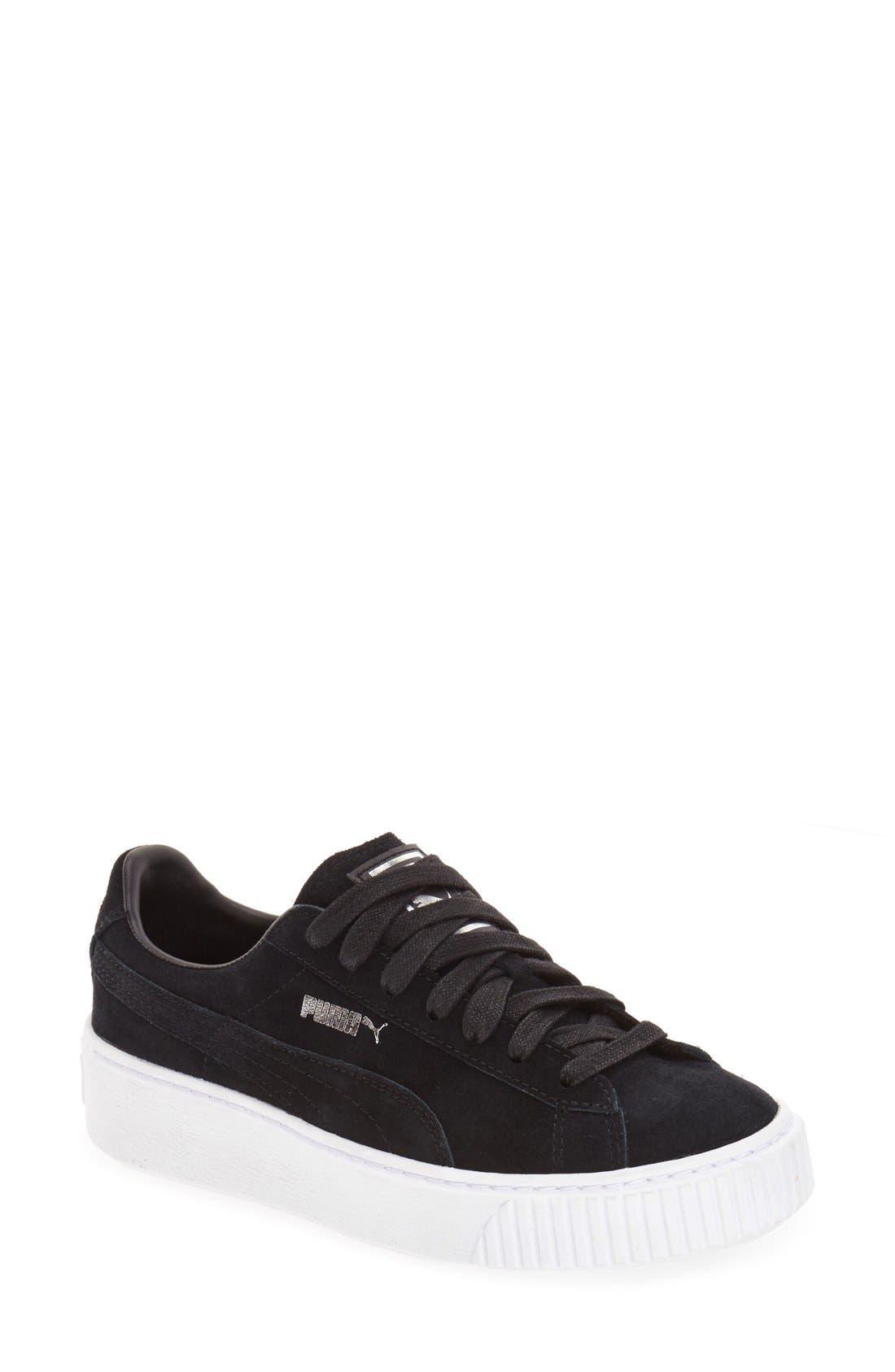 Suede Platform Sneaker,                             Main thumbnail 4, color,