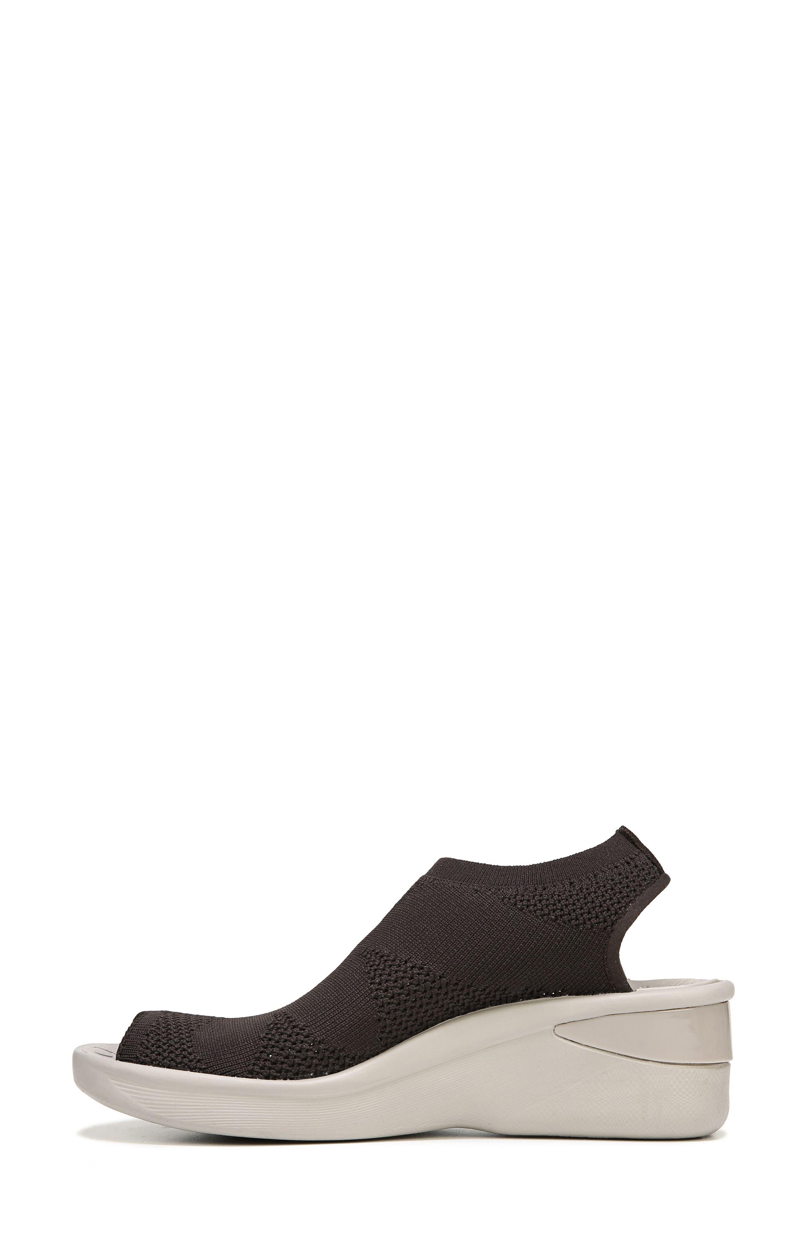 Secret Peep Toe Knit Sneaker,                             Alternate thumbnail 7, color,                             BROWN FABRIC