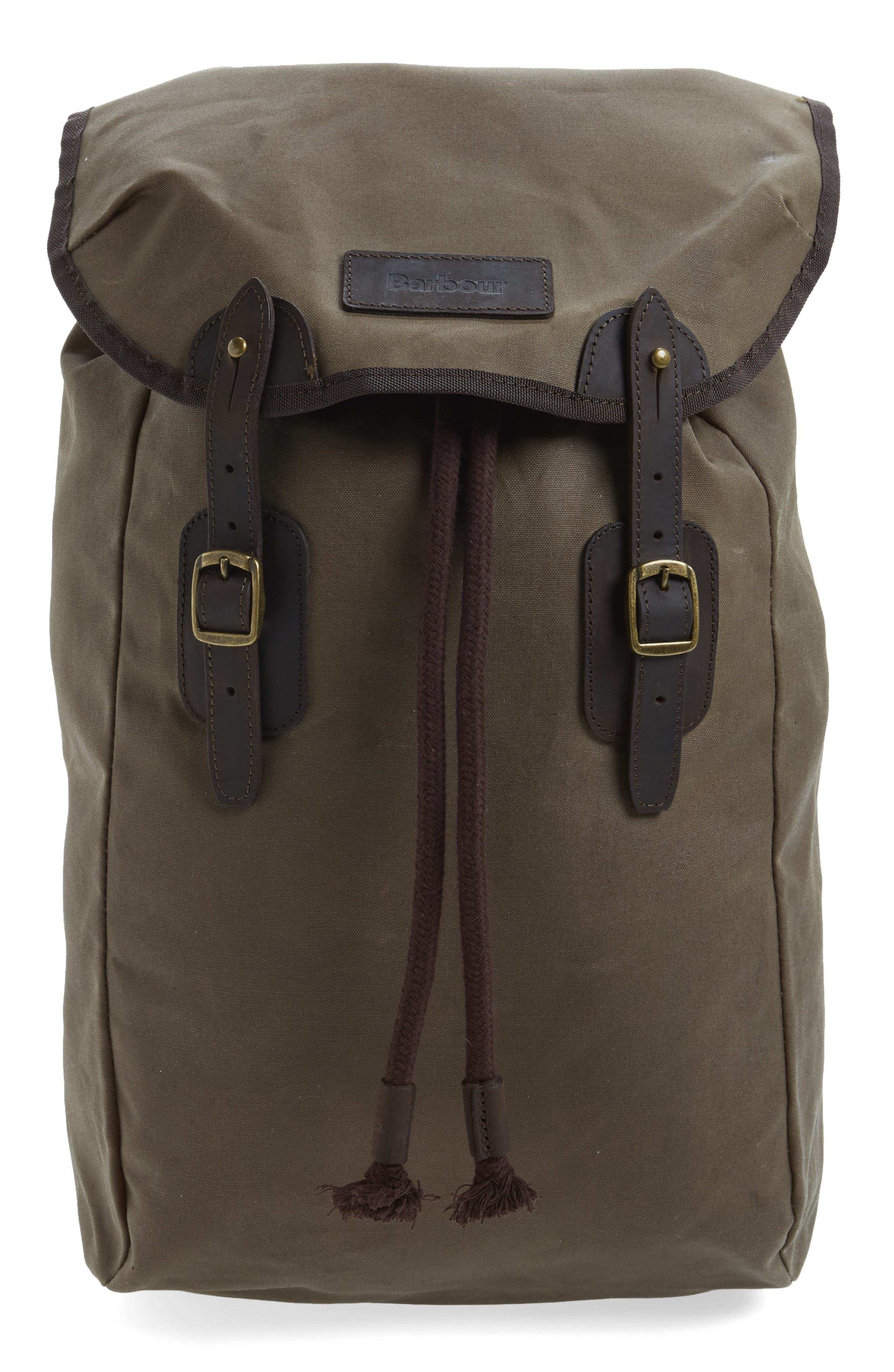 Waxed Canvas Backpack,                         Main,                         color, 220