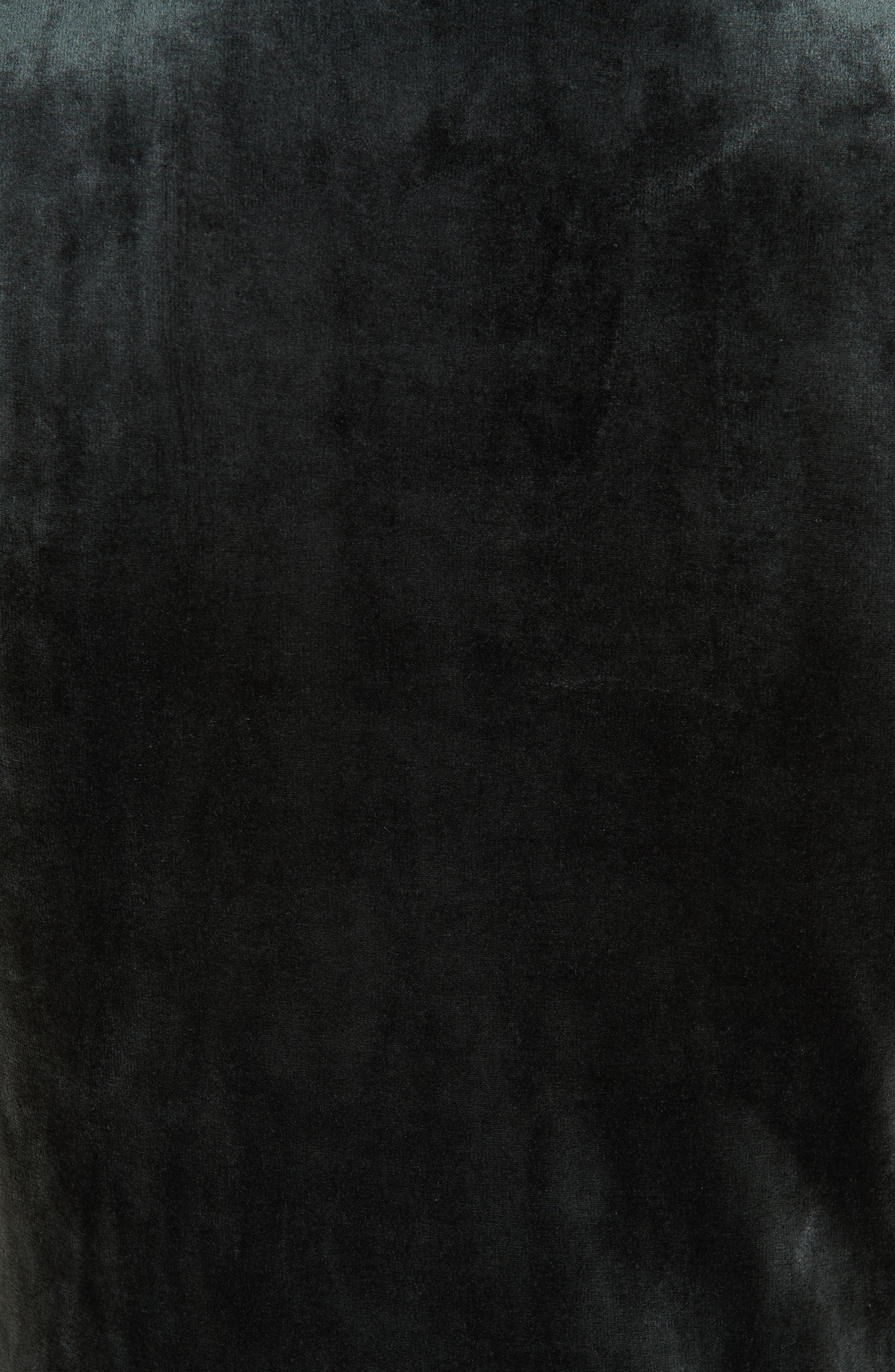Slim Velour Knit Tank,                             Alternate thumbnail 5, color,                             DARK HOLLY GREEN