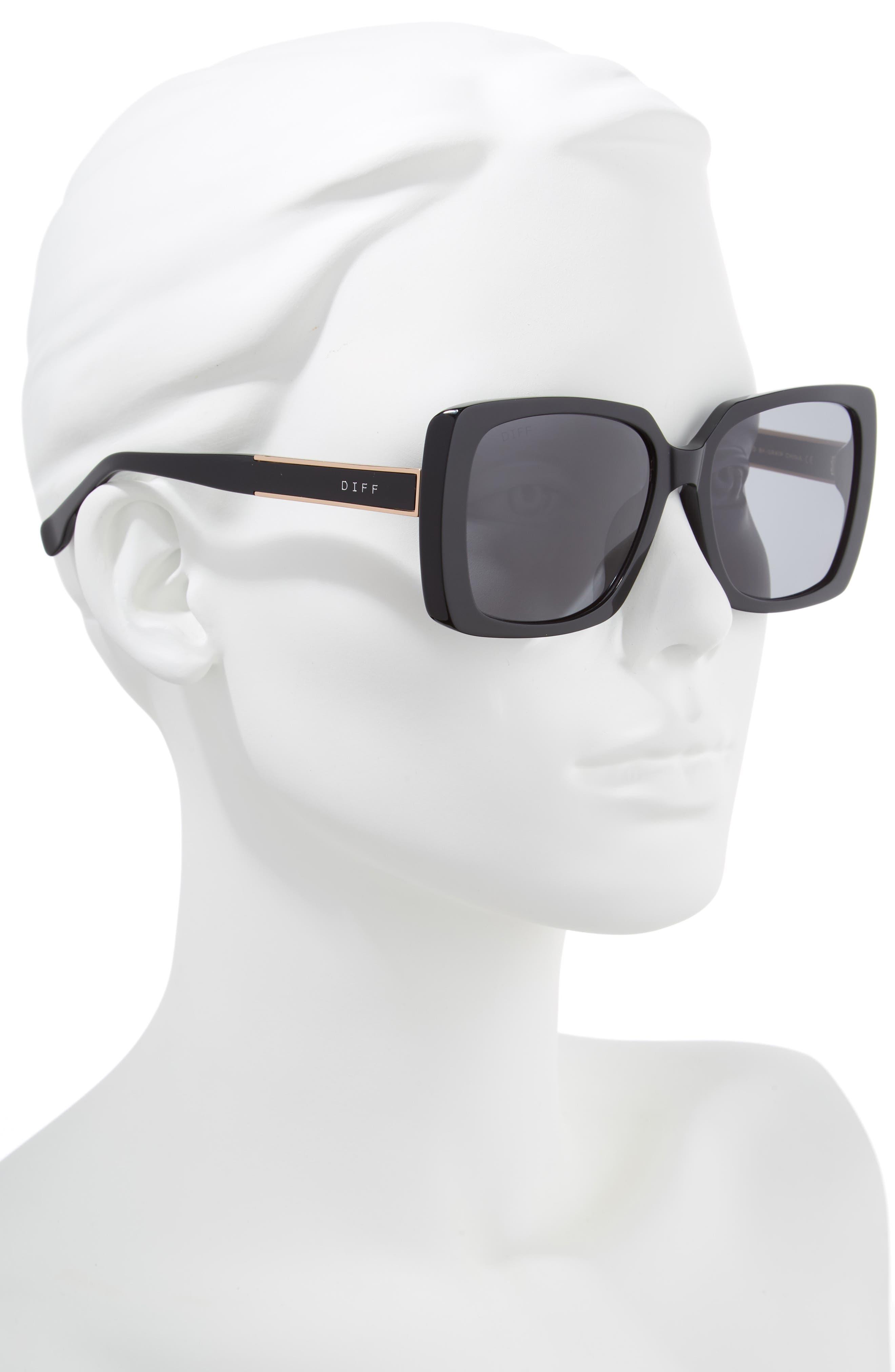 Sophie 52mm Polarized Sunglasses,                             Alternate thumbnail 2, color,                             001