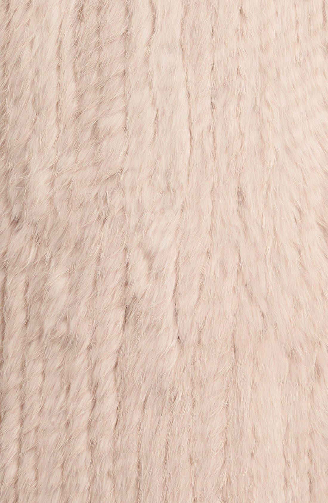 Genuine Rabbit Fur & Knit Vest,                             Alternate thumbnail 33, color,